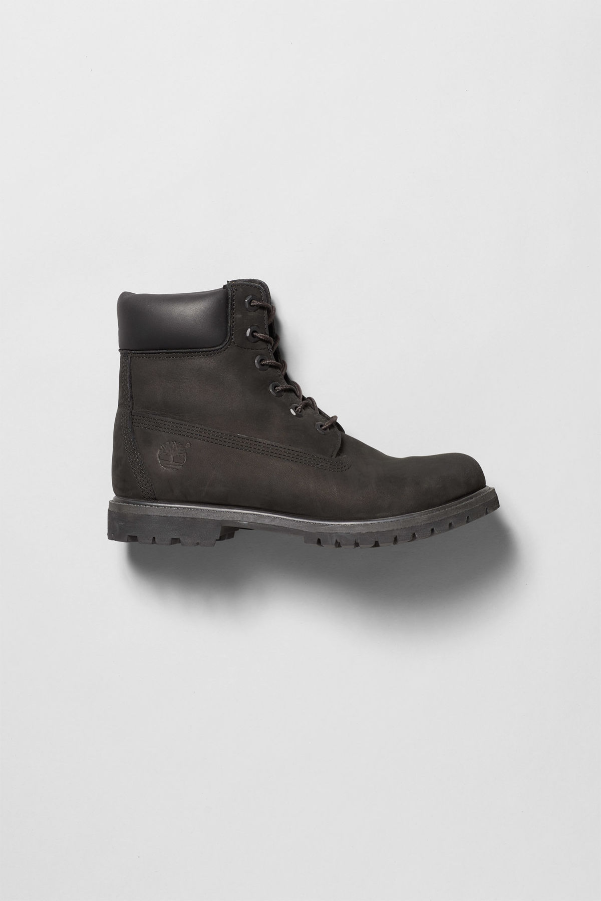 Front image of Weekday premium boots black in black