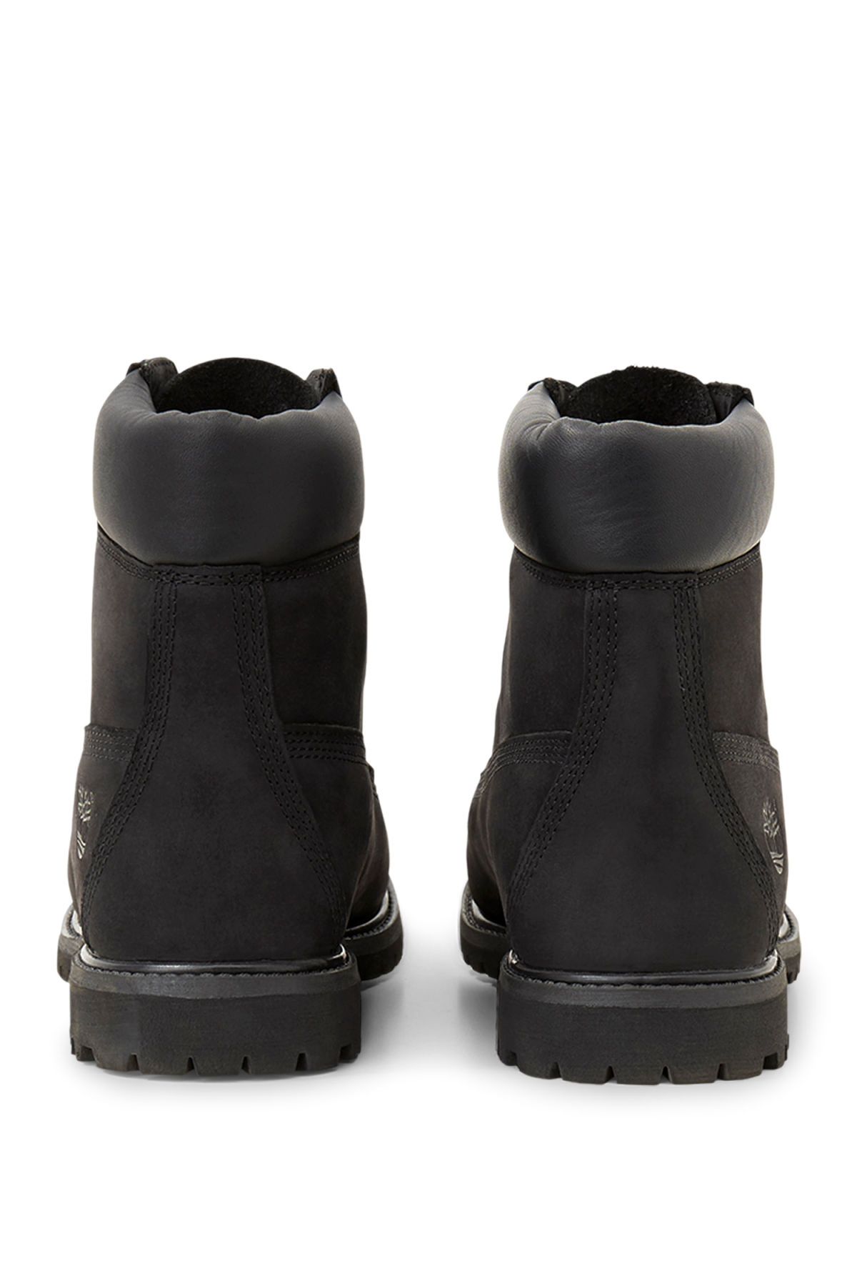 Side image of Weekday premium boots black in black