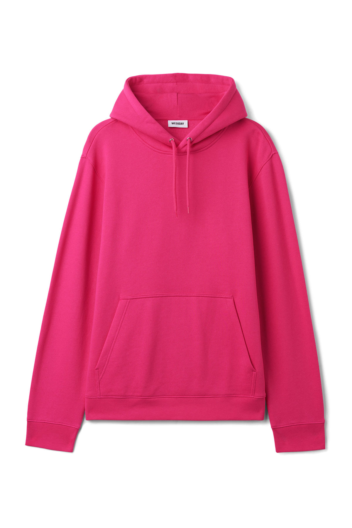 Front image of Weekday hawk hoodie in pink
