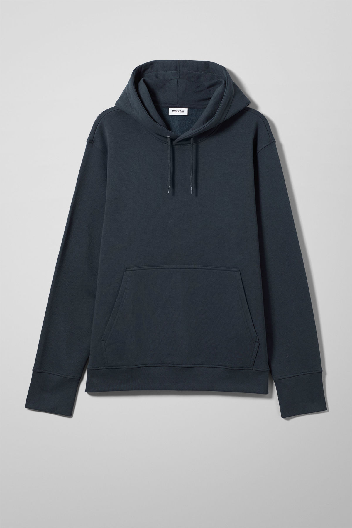 Front image of Weekday hawk hoodie in blue