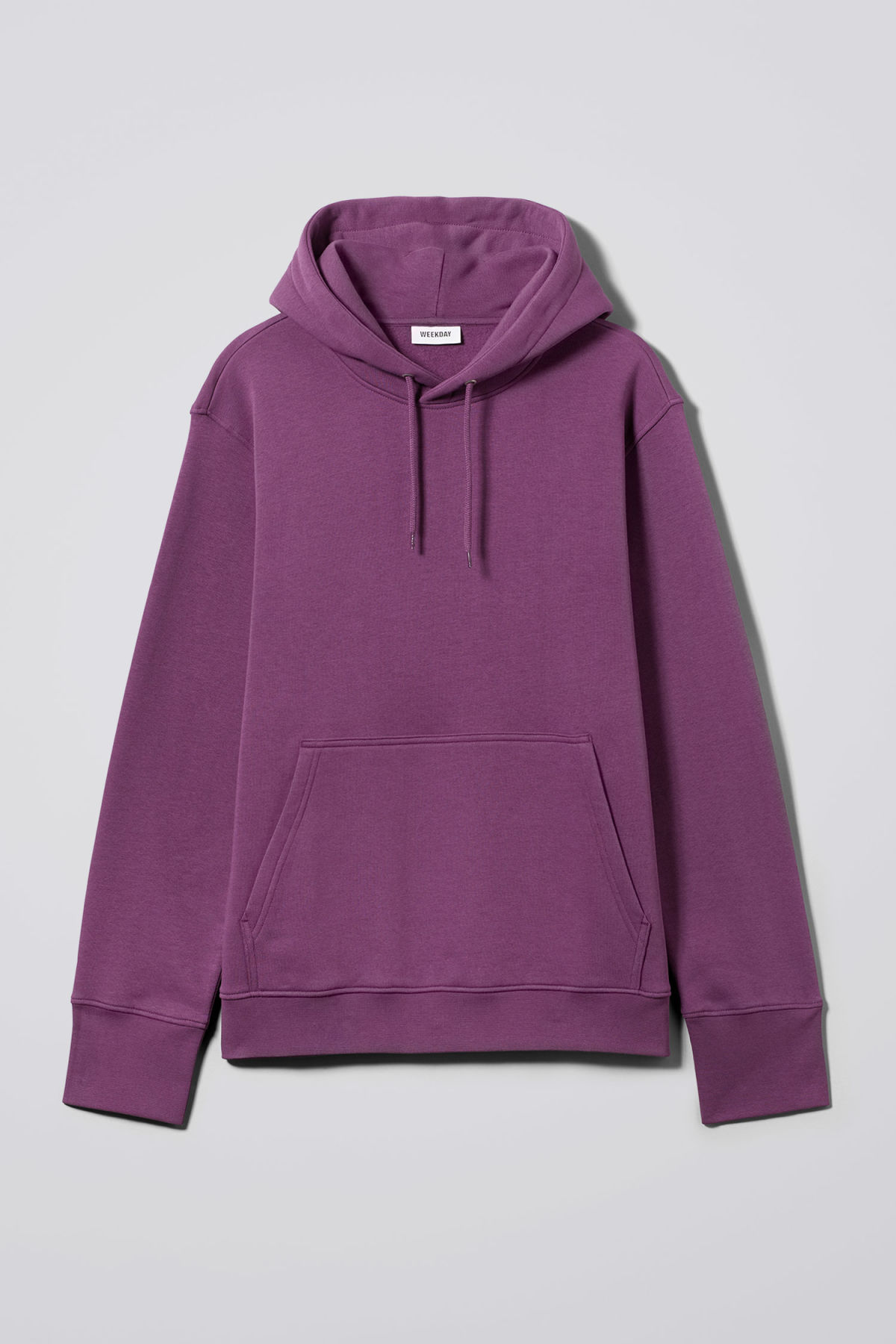 Front image of Weekday hawk hoodie in purple