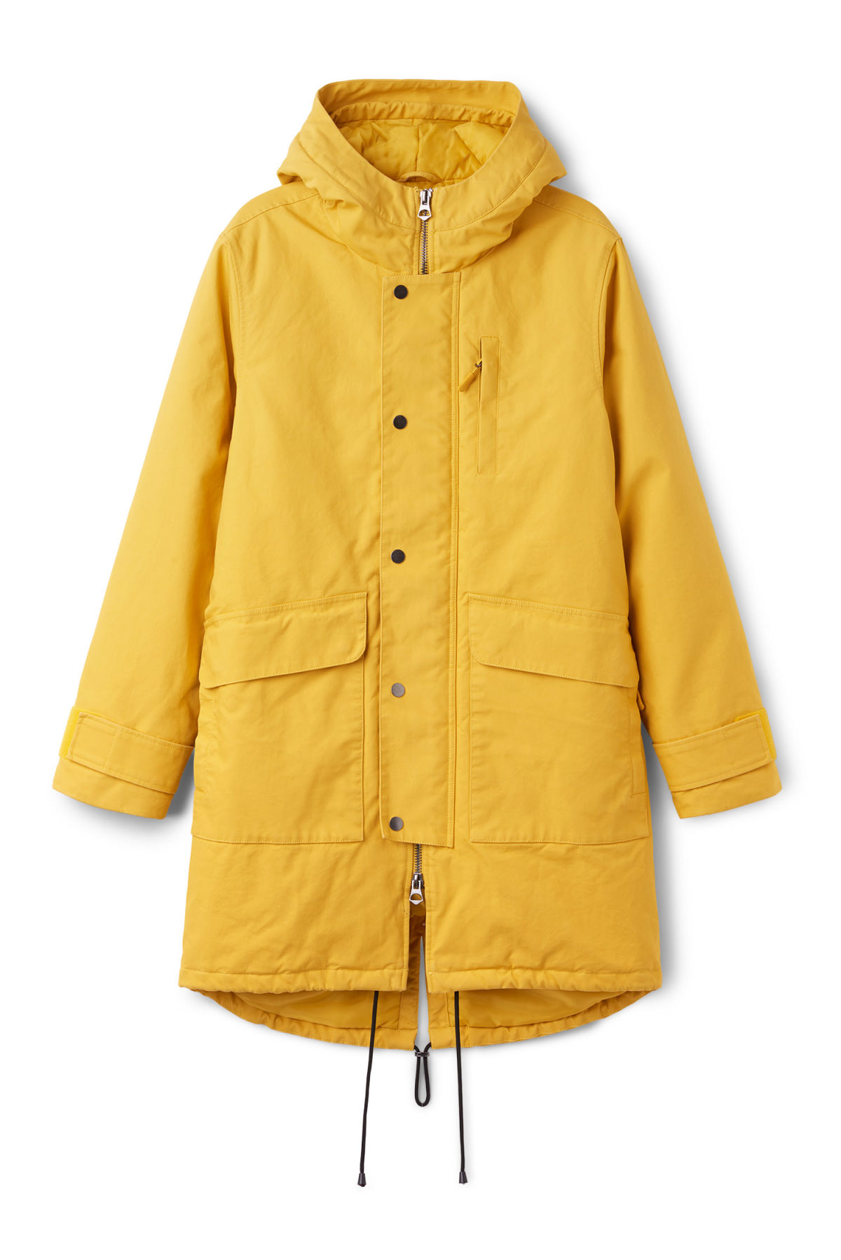 Front image of Weekday hepp parka in yellow