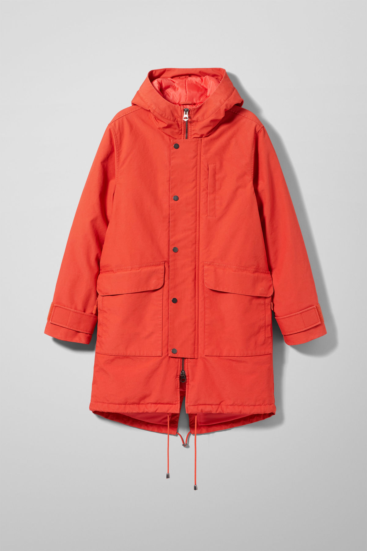 Front image of Weekday hepp parka in orange