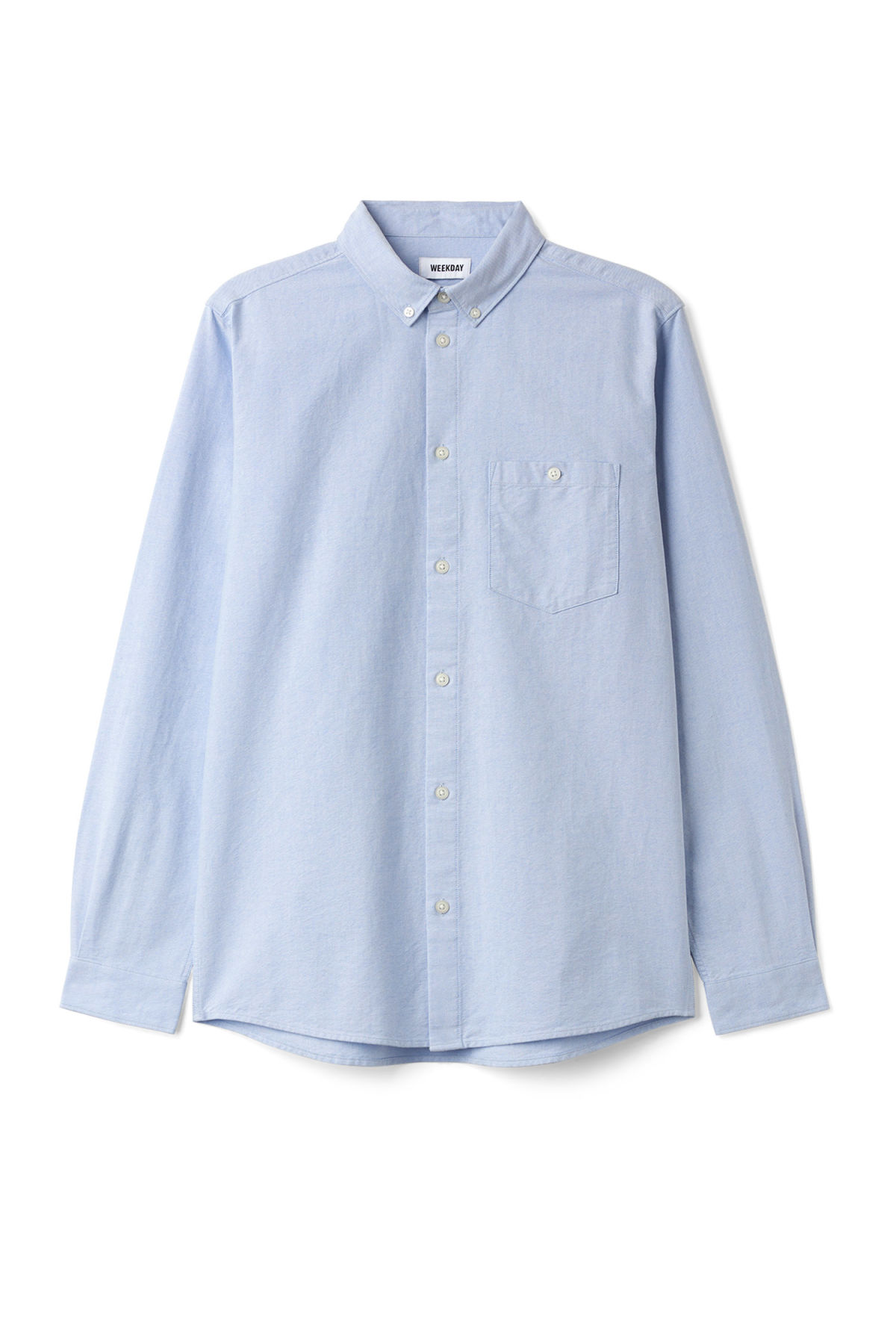 Front image of Weekday bad times shirt in blue