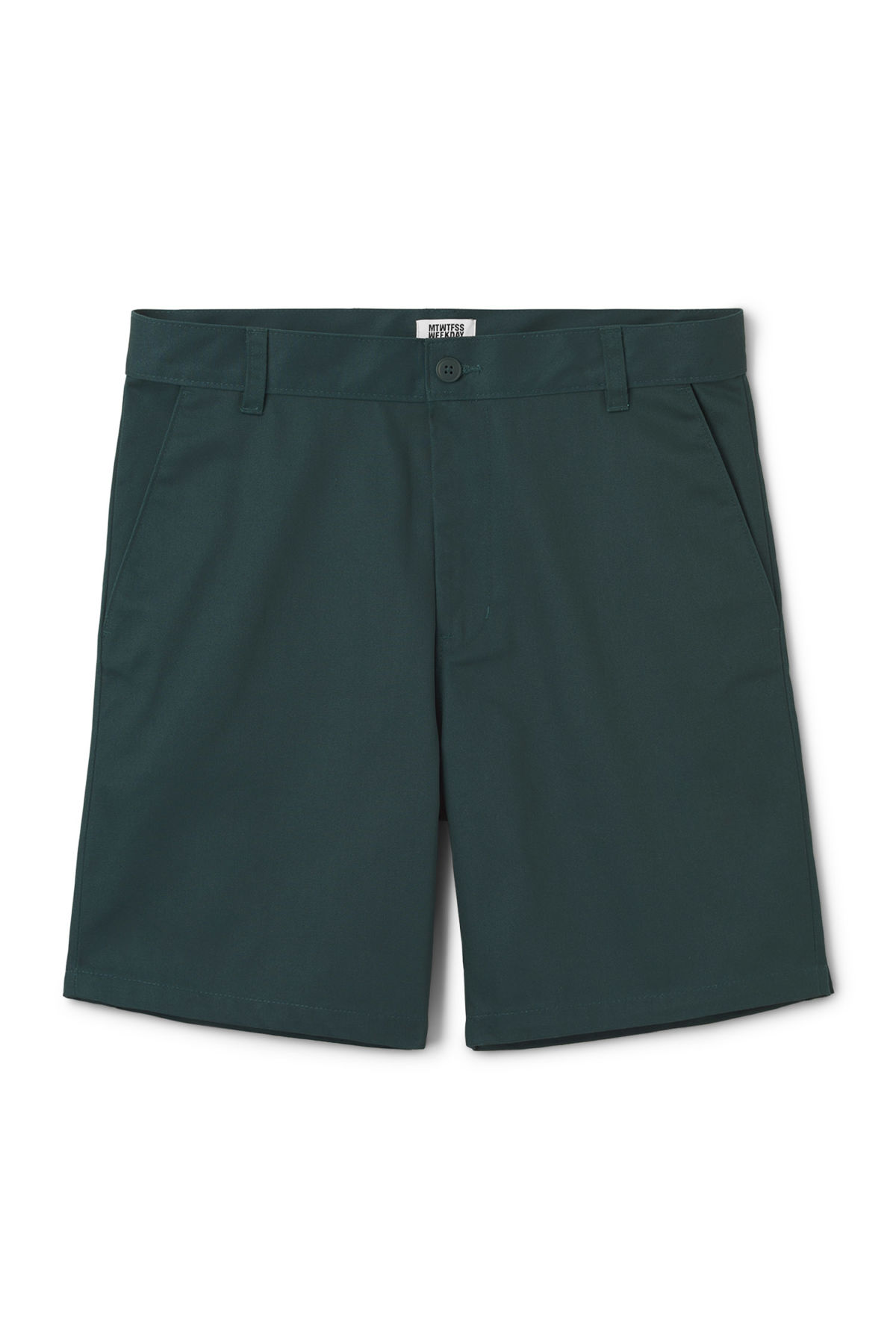 Front image of Weekday clark shorts in turquoise