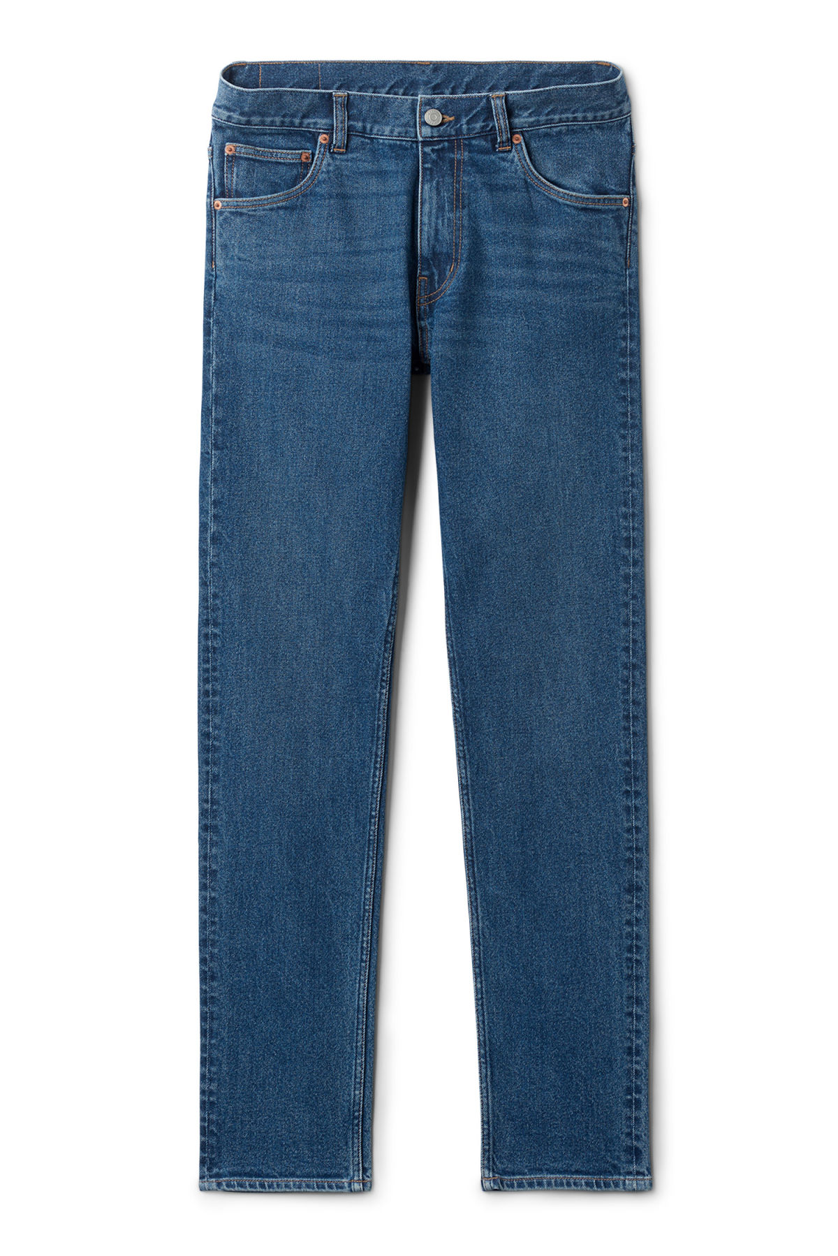 Front image of Weekday friday peralta blue jeans in blue