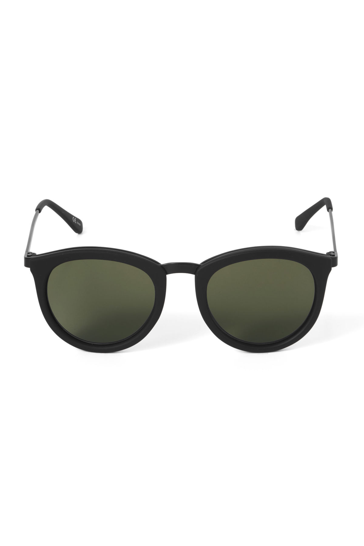 Front image of Weekday no smirking sunglasses in black