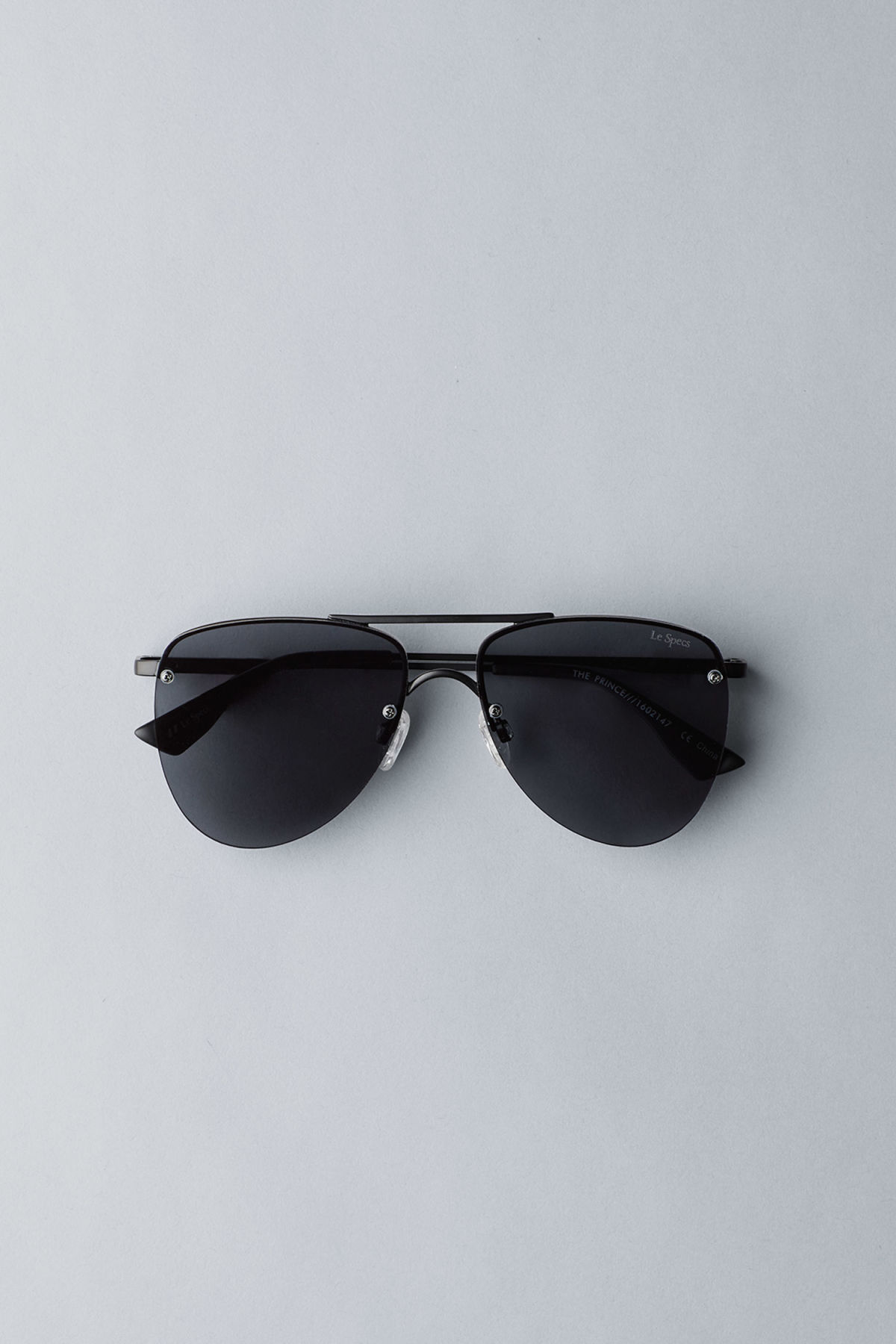 Front image of Weekday the prince sunglasses in black