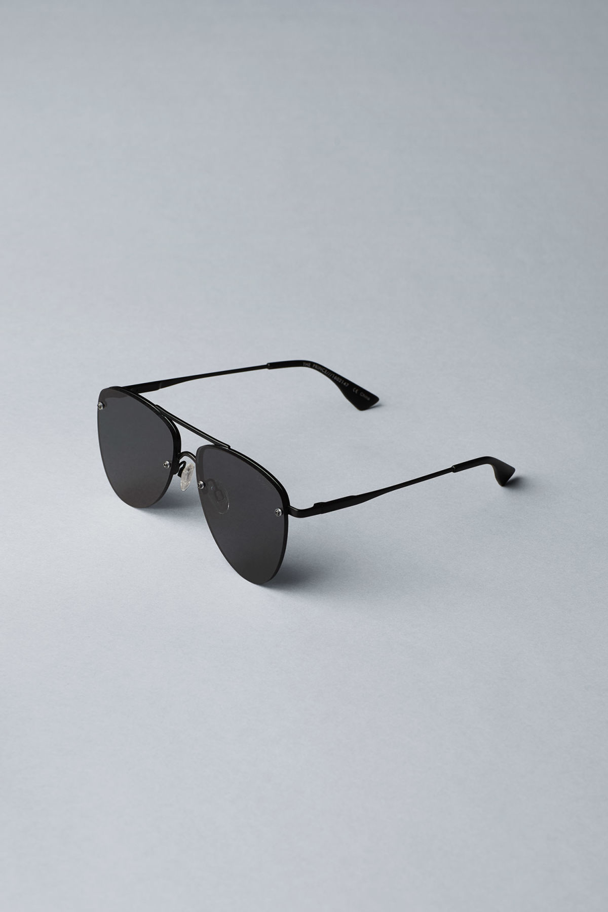 Back image of Weekday the prince sunglasses in black