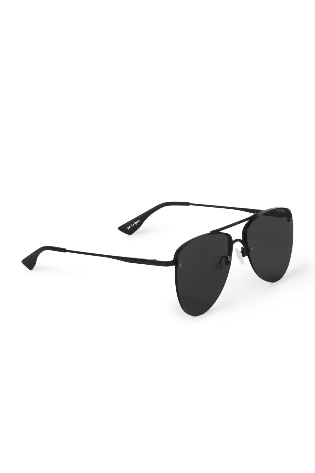 Side image of Weekday the prince sunglasses in black