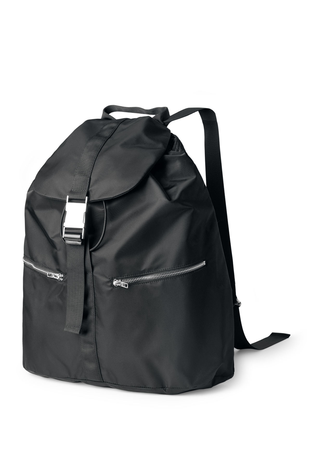 Front image of Weekday lazy backpack in black