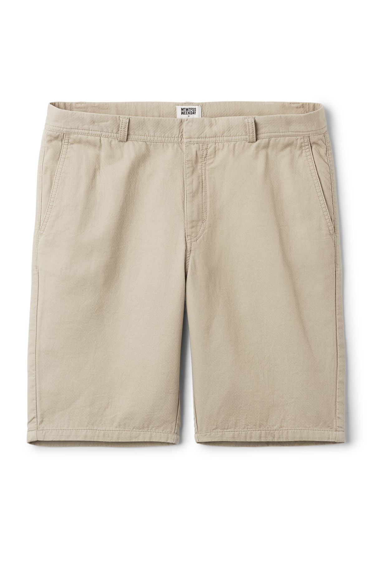 Front image of Weekday venice shorts in green