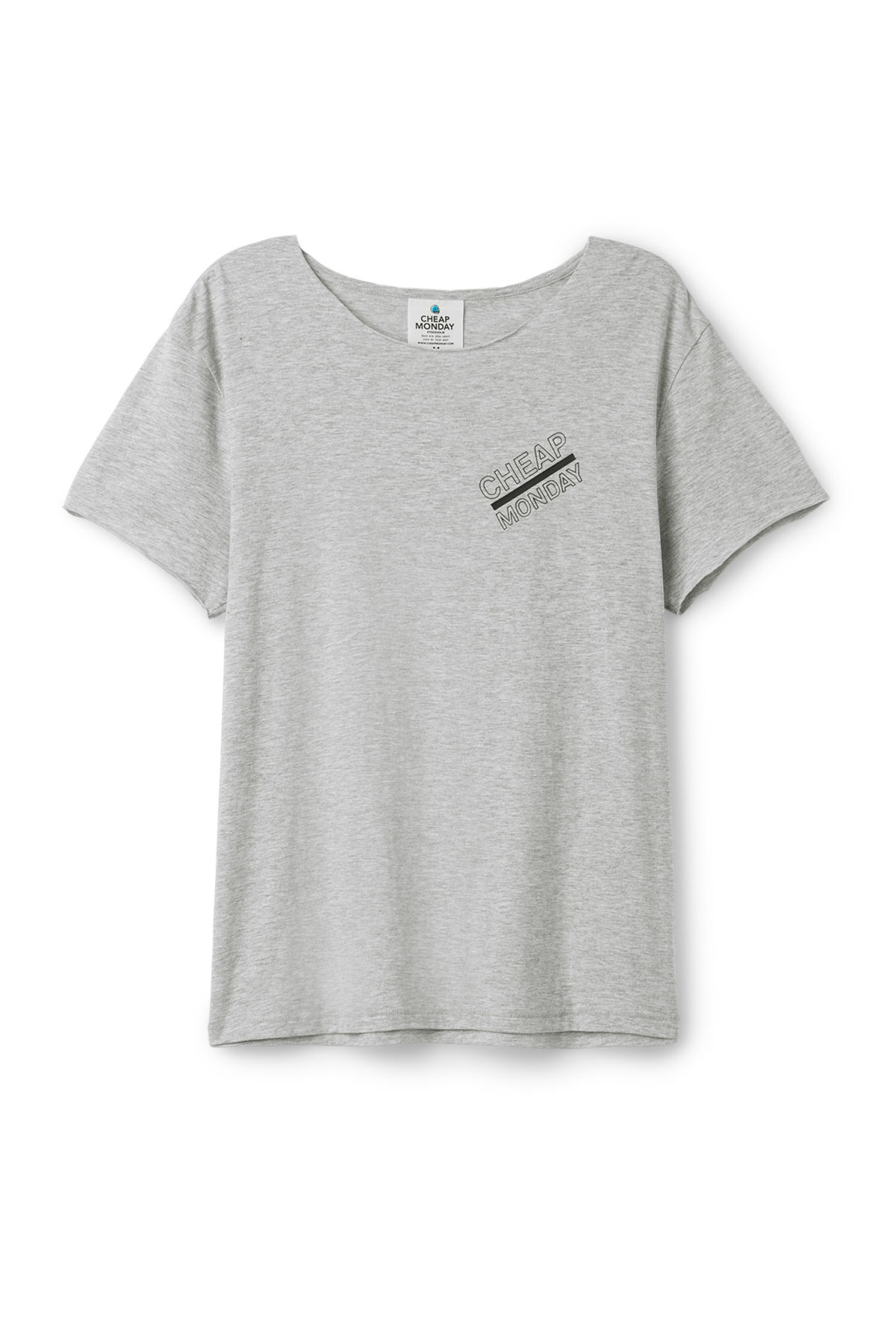 Front image of Weekday standard edge t-shirt in grey