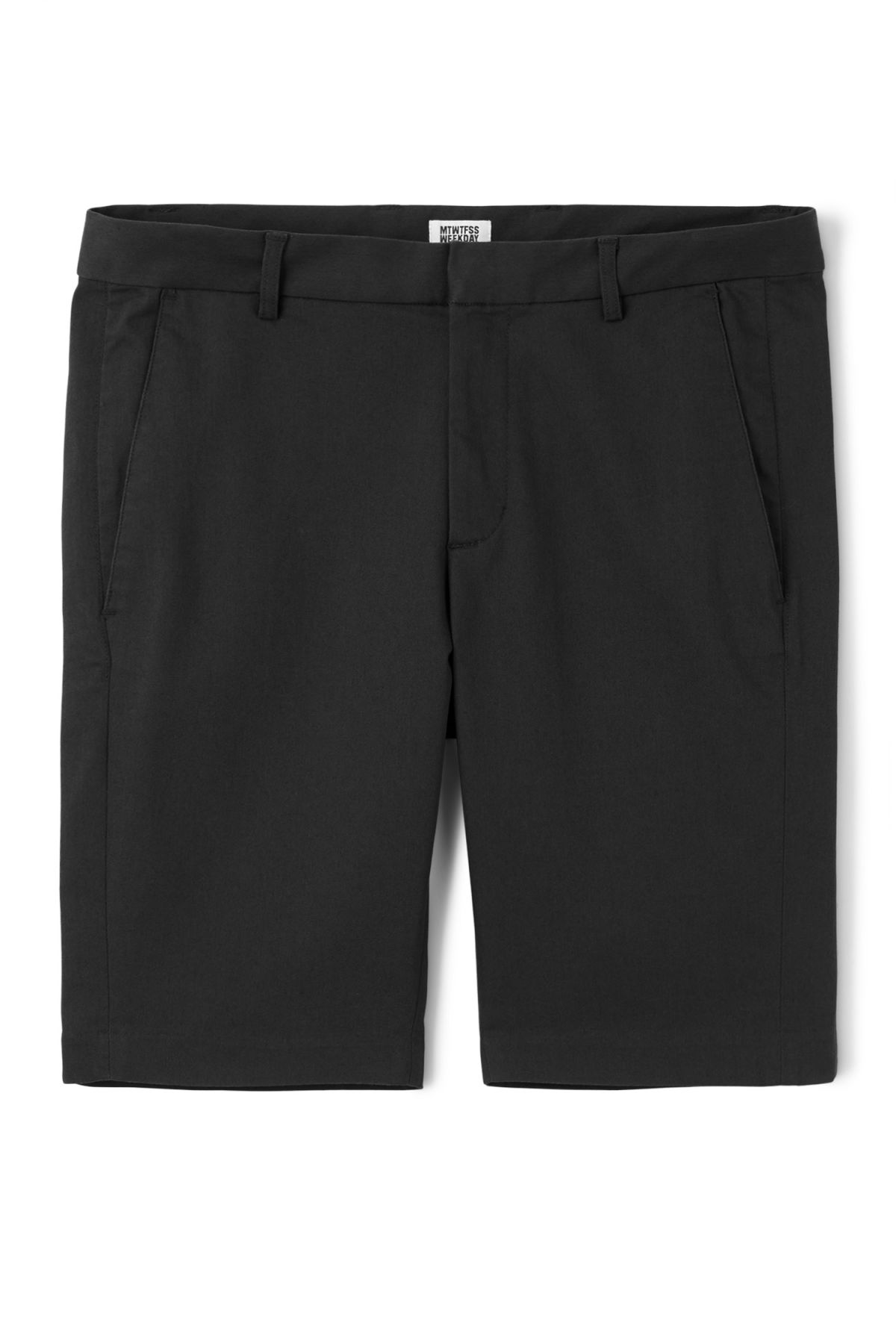 Front image of Weekday piotr shorts in black