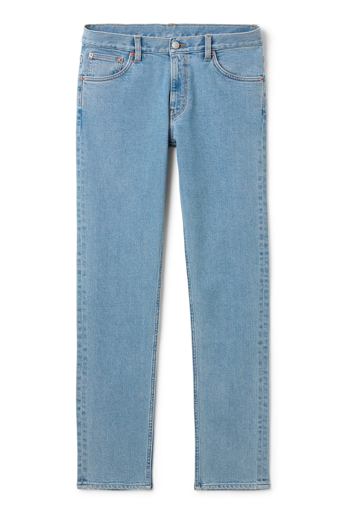 Front image of Weekday friday cash jeans in blue