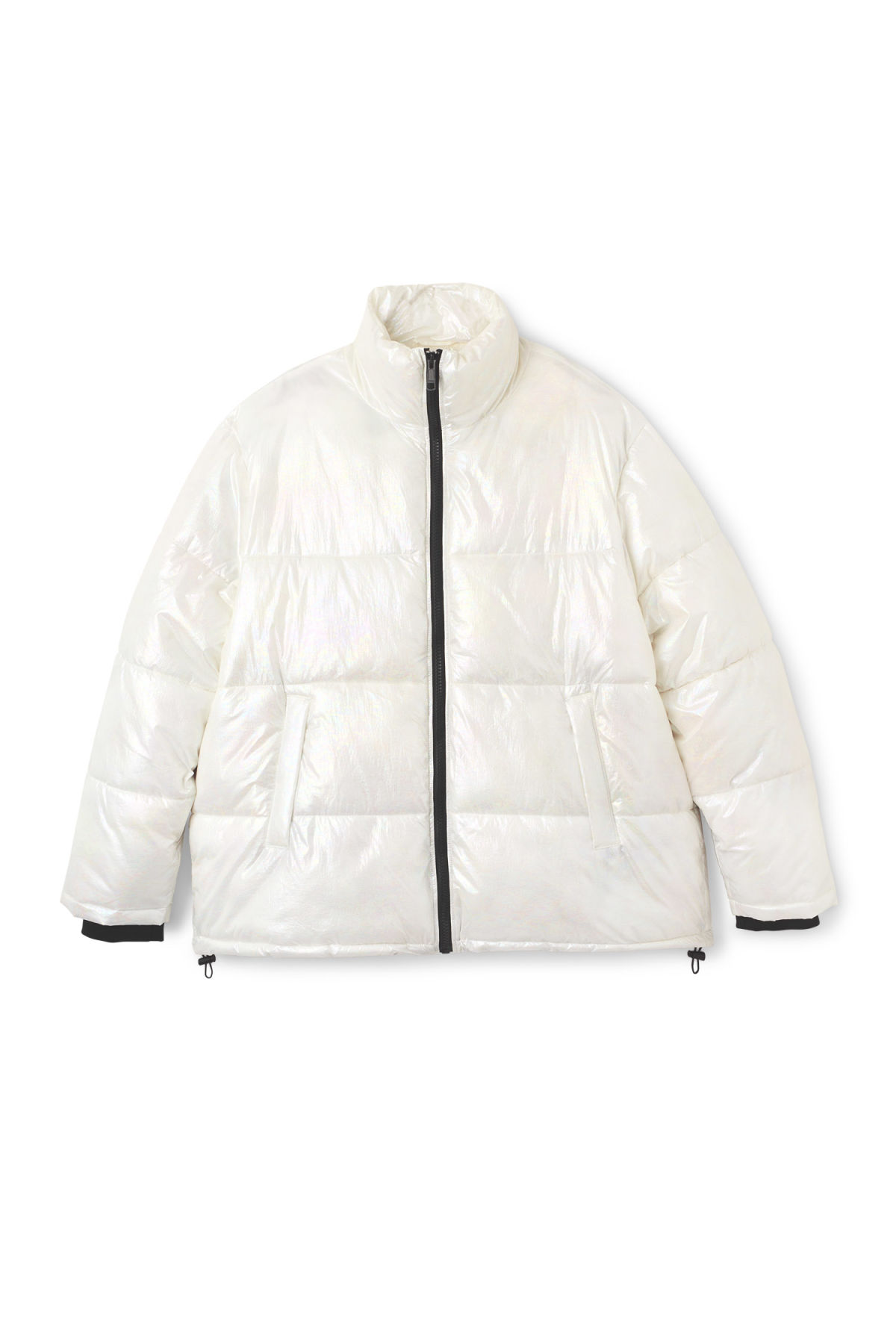 Front image of Weekday max jacket in white