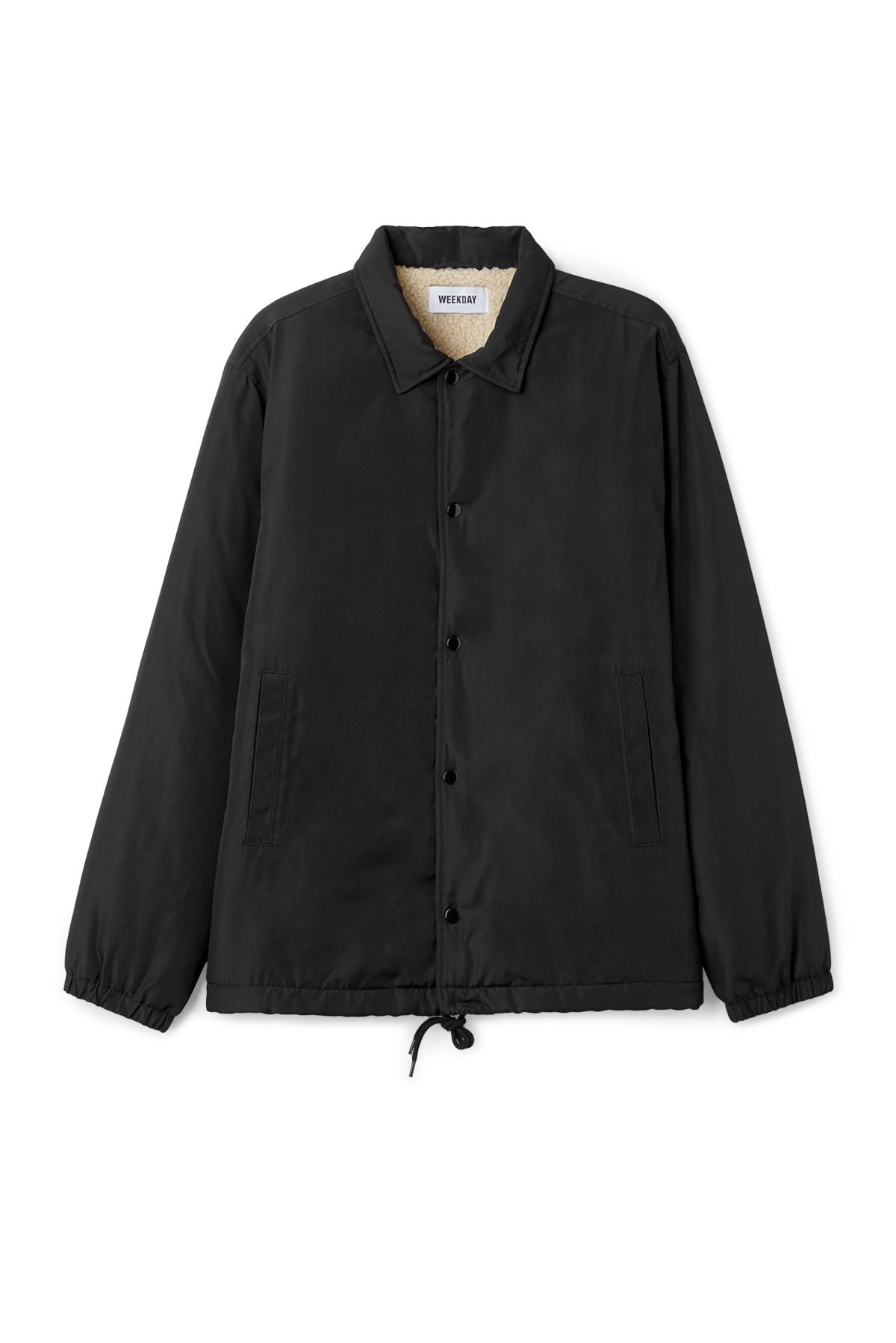 Front image of Weekday bob coach jacket  in black