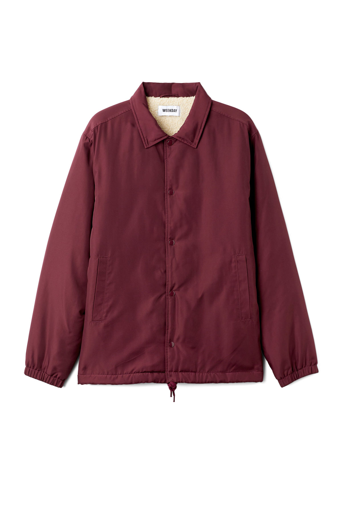 Front image of Weekday bob coach jacket  in red