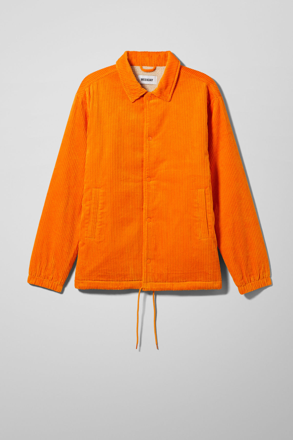 Front image of Weekday bob coach jacket  in orange