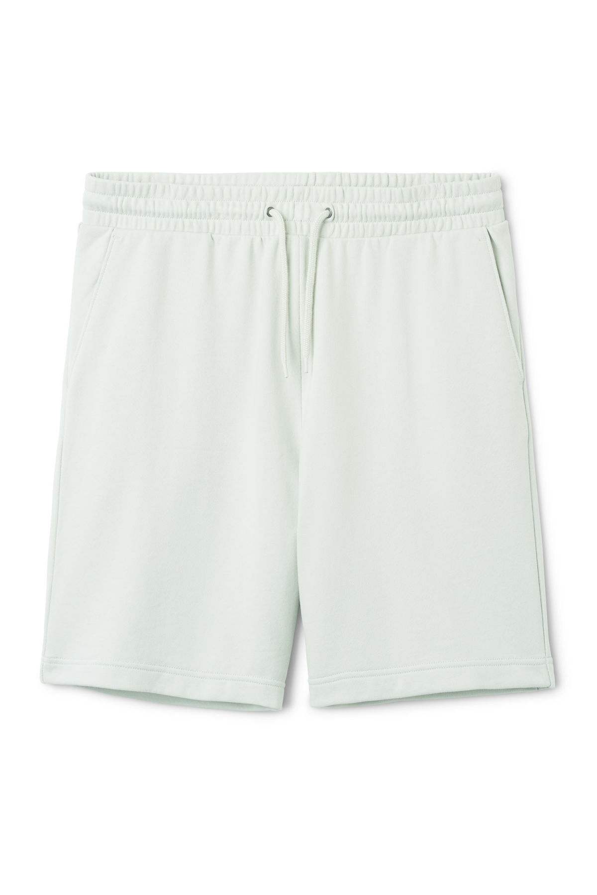 Front image of Weekday sun shorts in grey