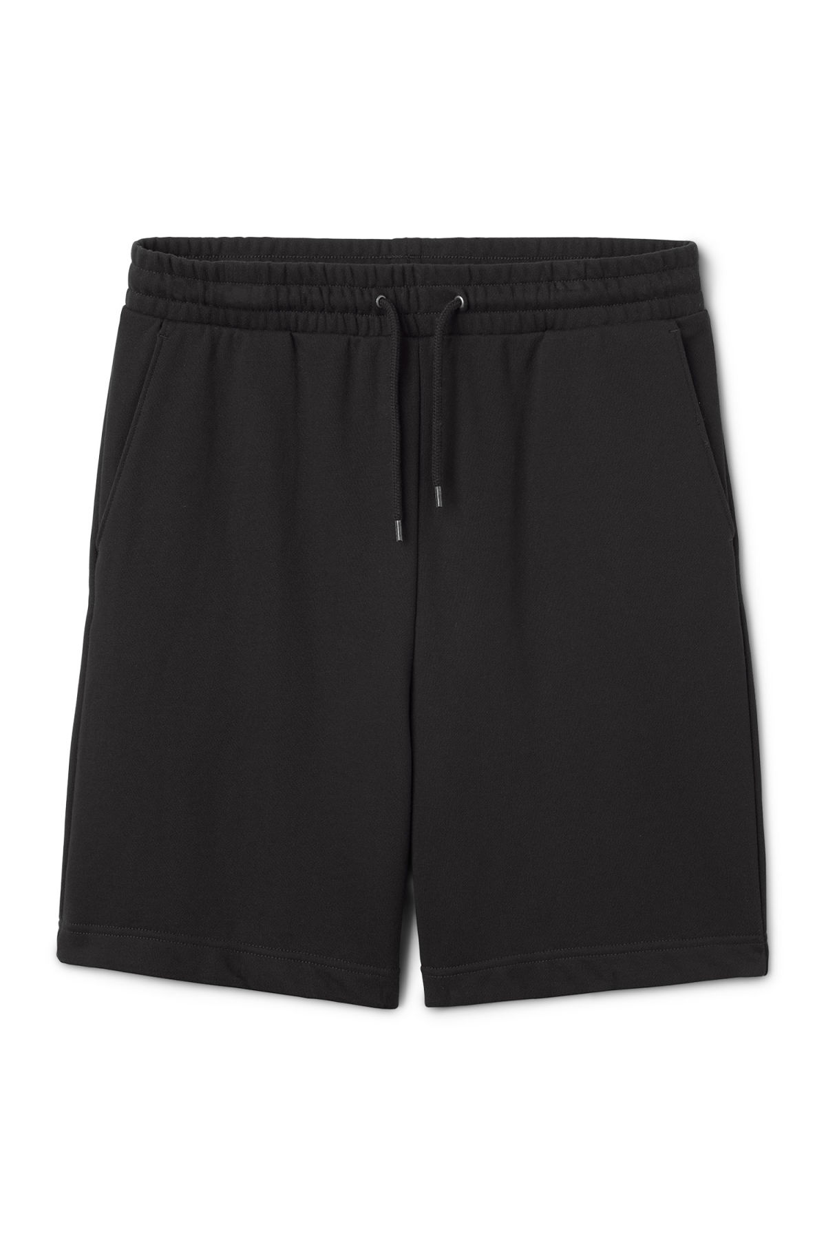 Front image of Weekday sun shorts in black