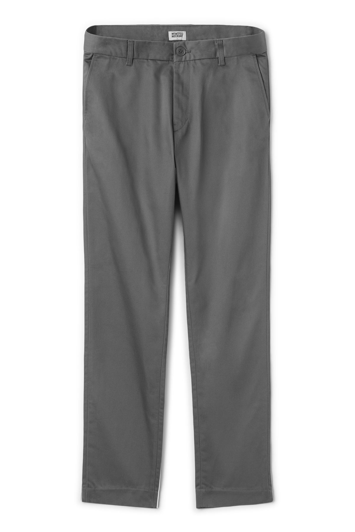 Front image of Weekday forest chinos in grey