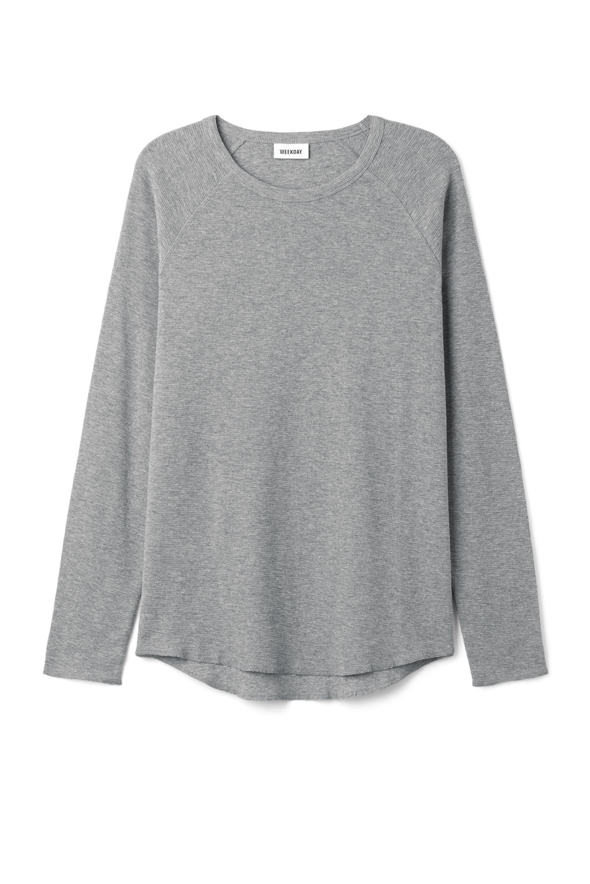 Front image of Weekday zic long sleeve in grey
