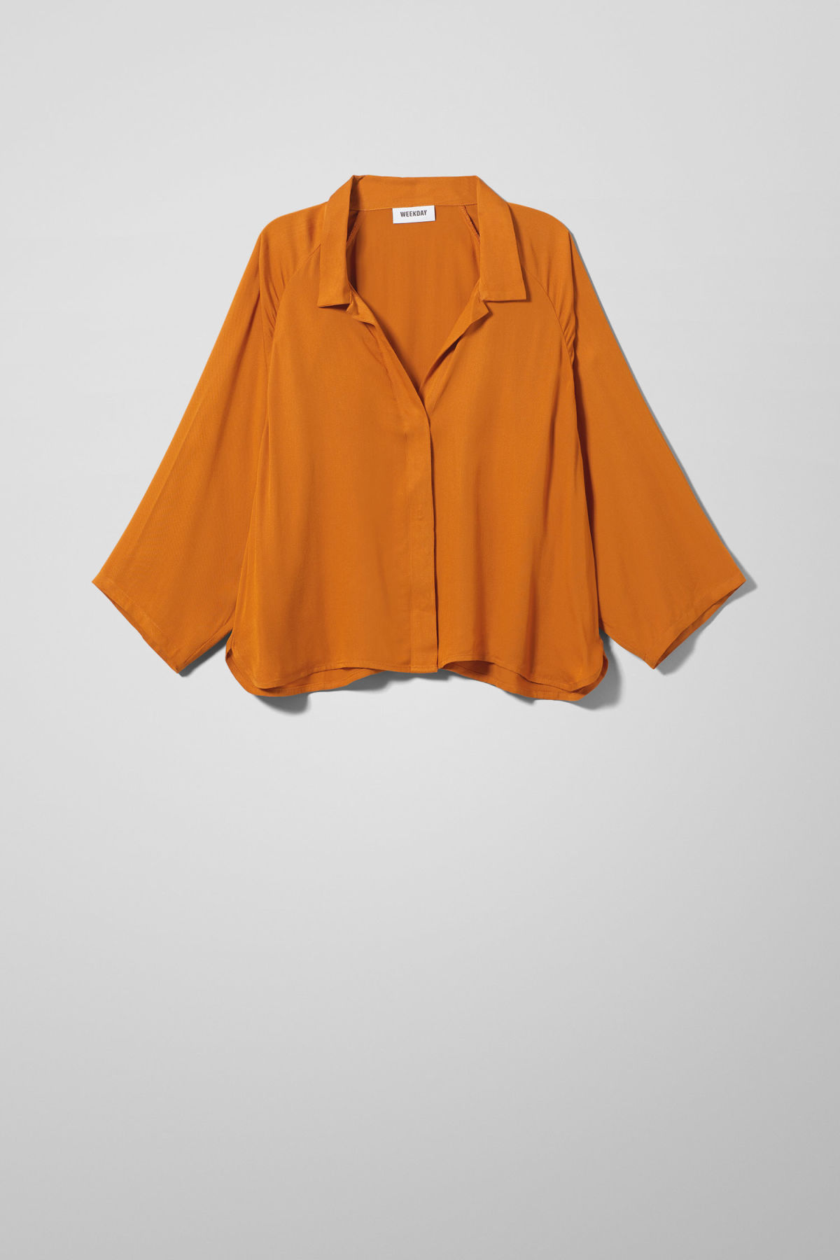 Front image of Weekday franca blouse in yellow