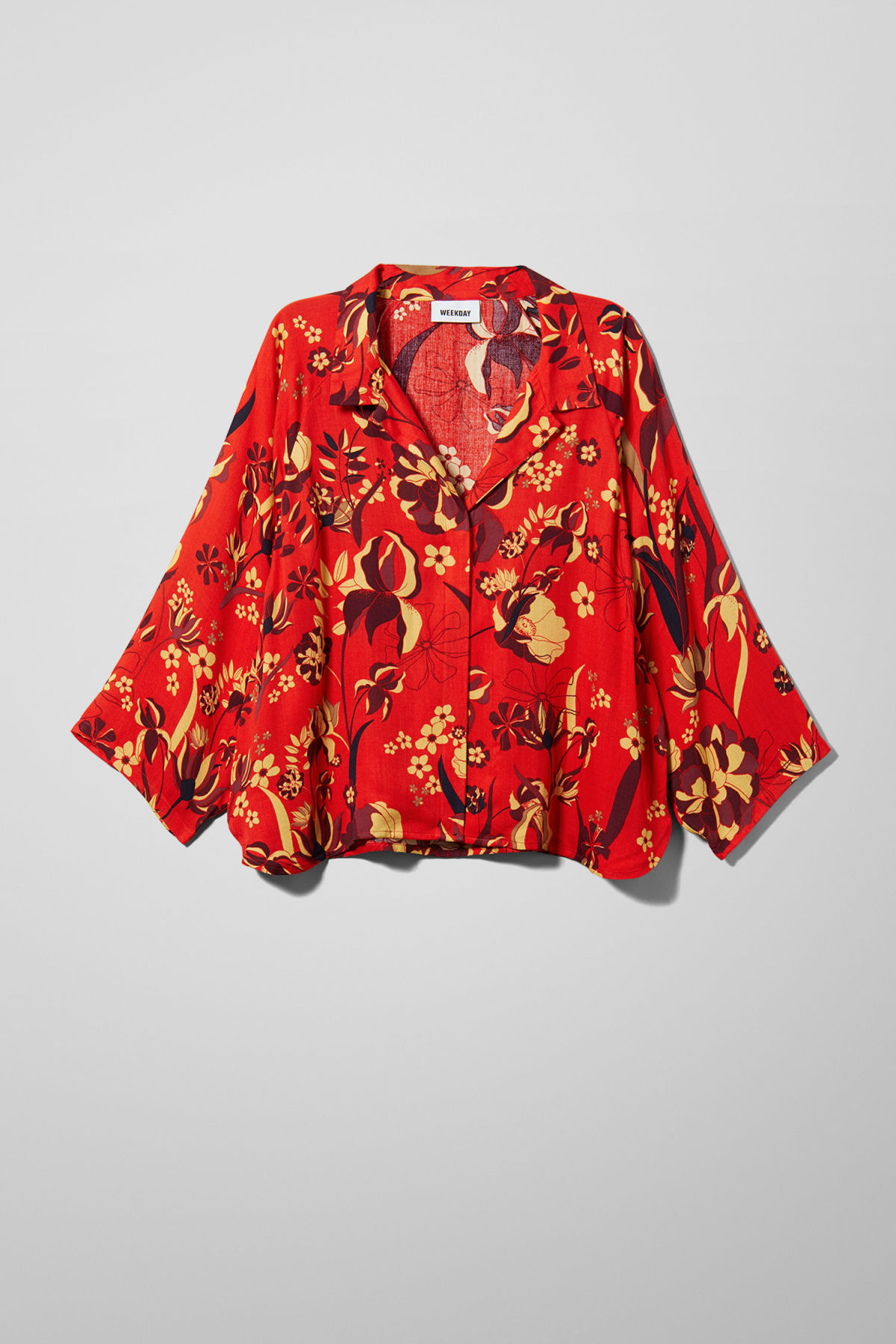 Front image of Weekday franca blouse in red
