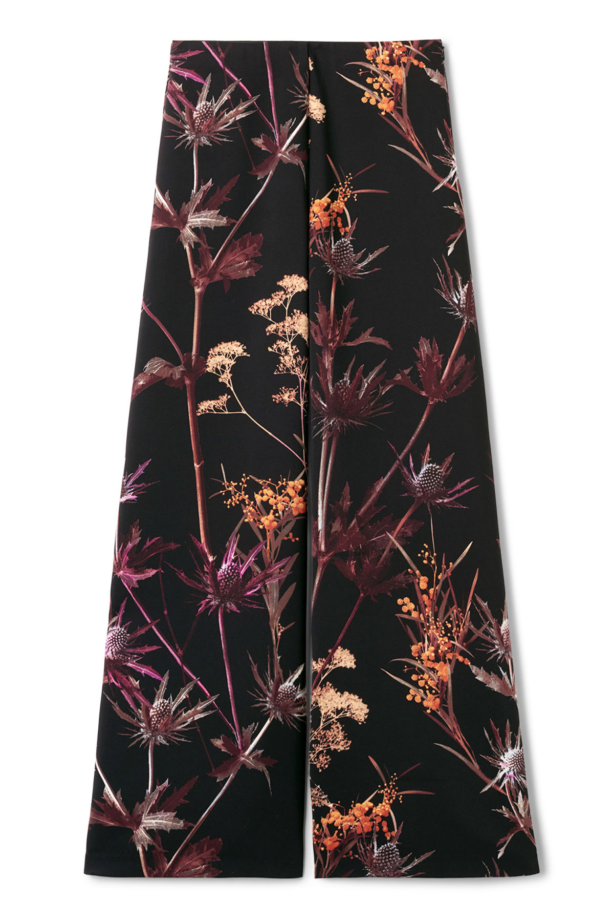 Front image of Weekday julia print trousers in black