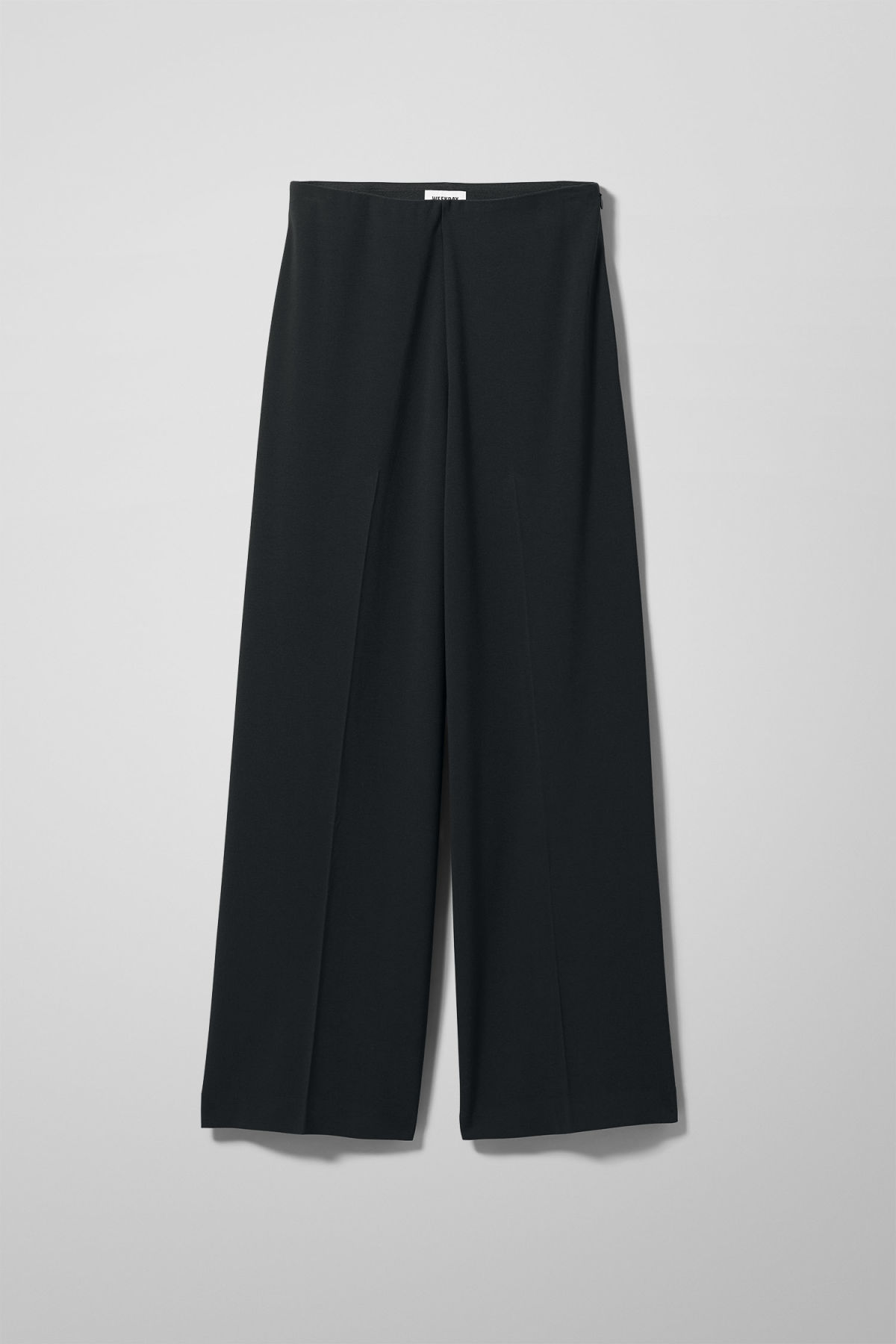 Front image of Weekday julia trousers  in black