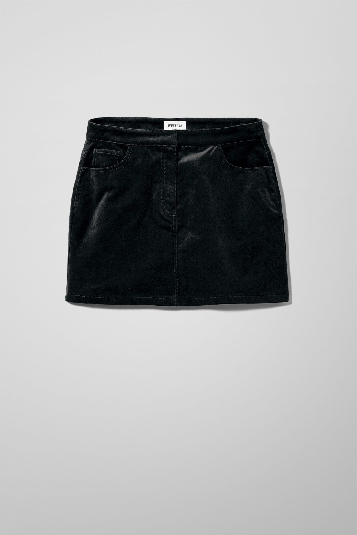Front image of Weekday evelyn skirt in black