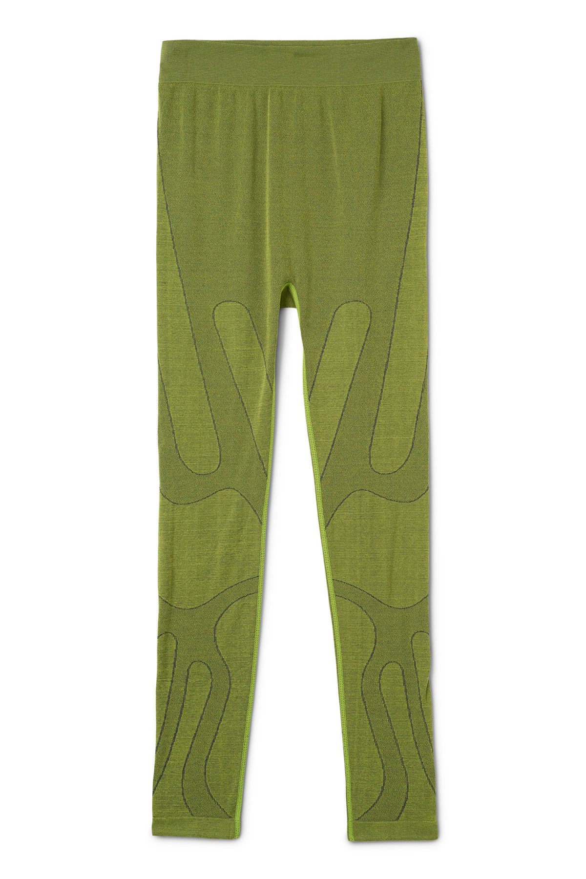 Front image of Weekday luna tights in green