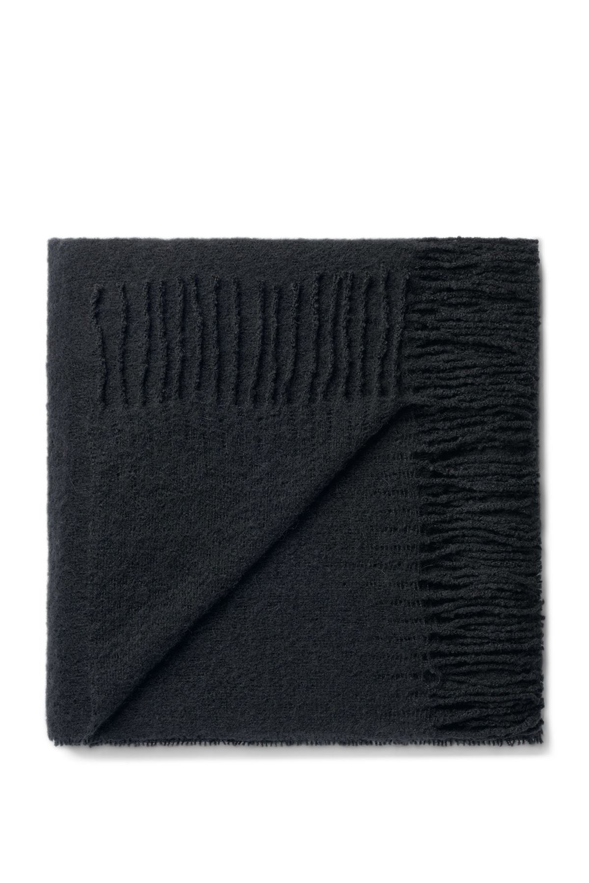 Front image of Weekday aspect woven scarf in black
