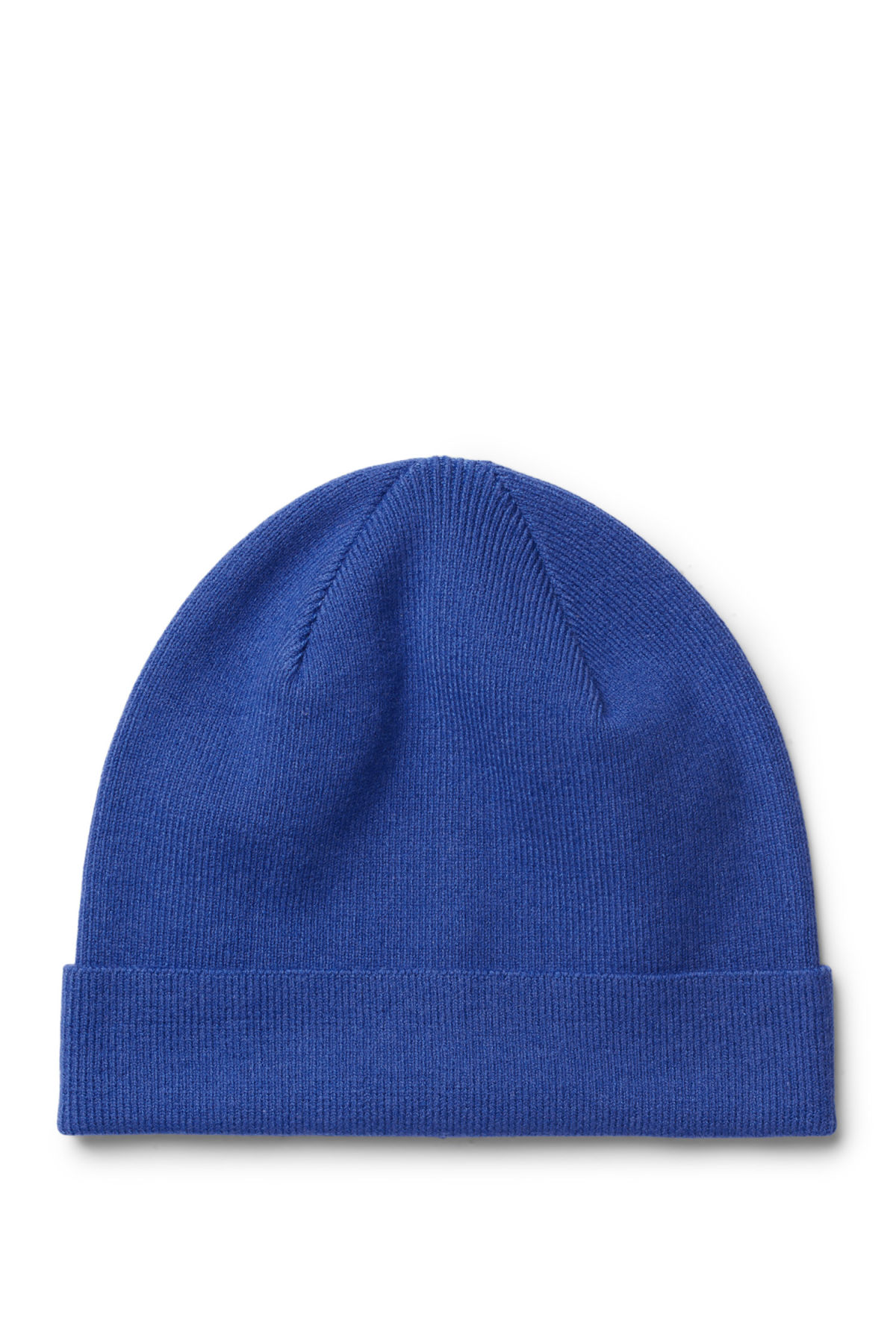 Front image of Weekday sly knit beanie in blue
