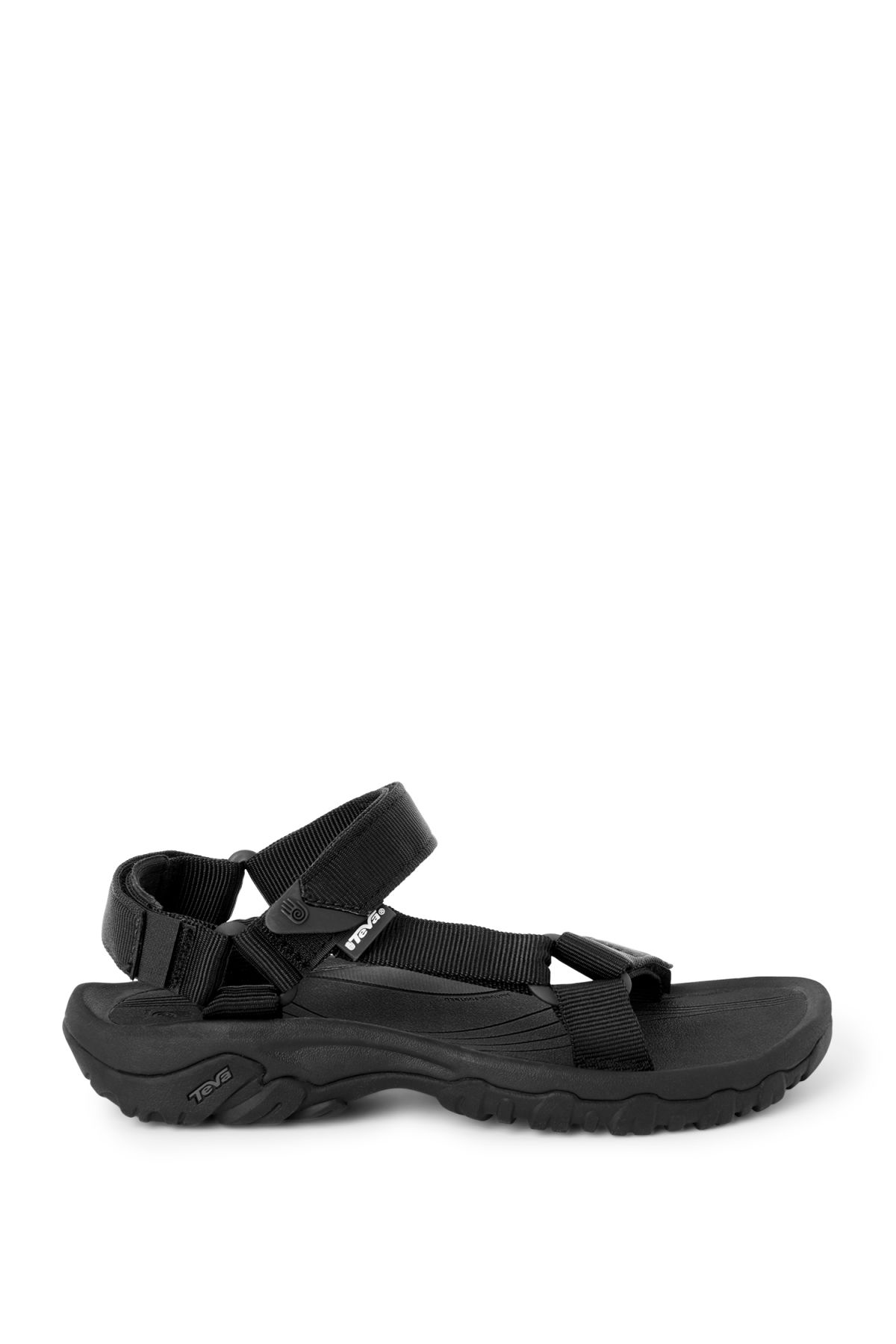 Front image of Weekday hurricane sandals in black