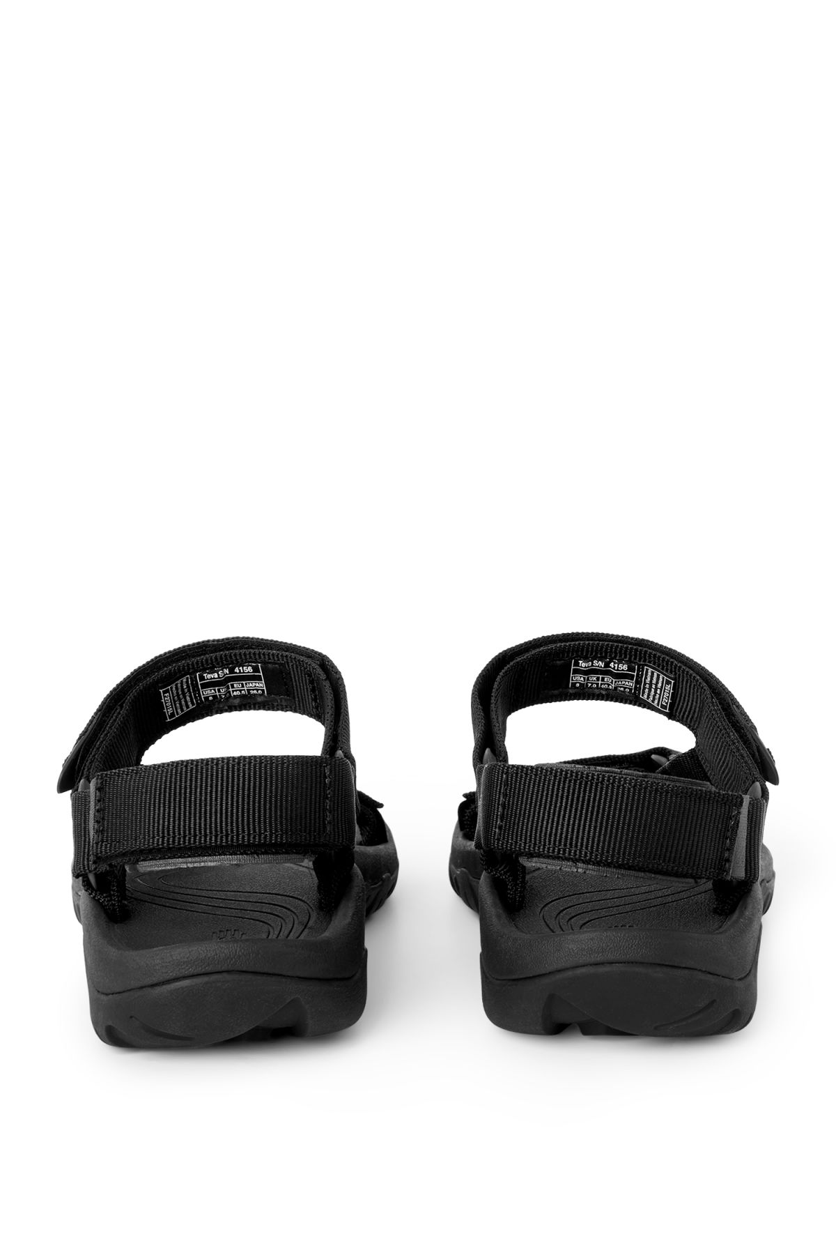 Back image of Weekday hurricane sandals in black