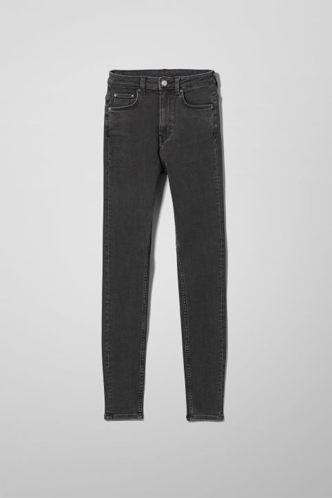 Weekday Body High Perfect Black Jeans