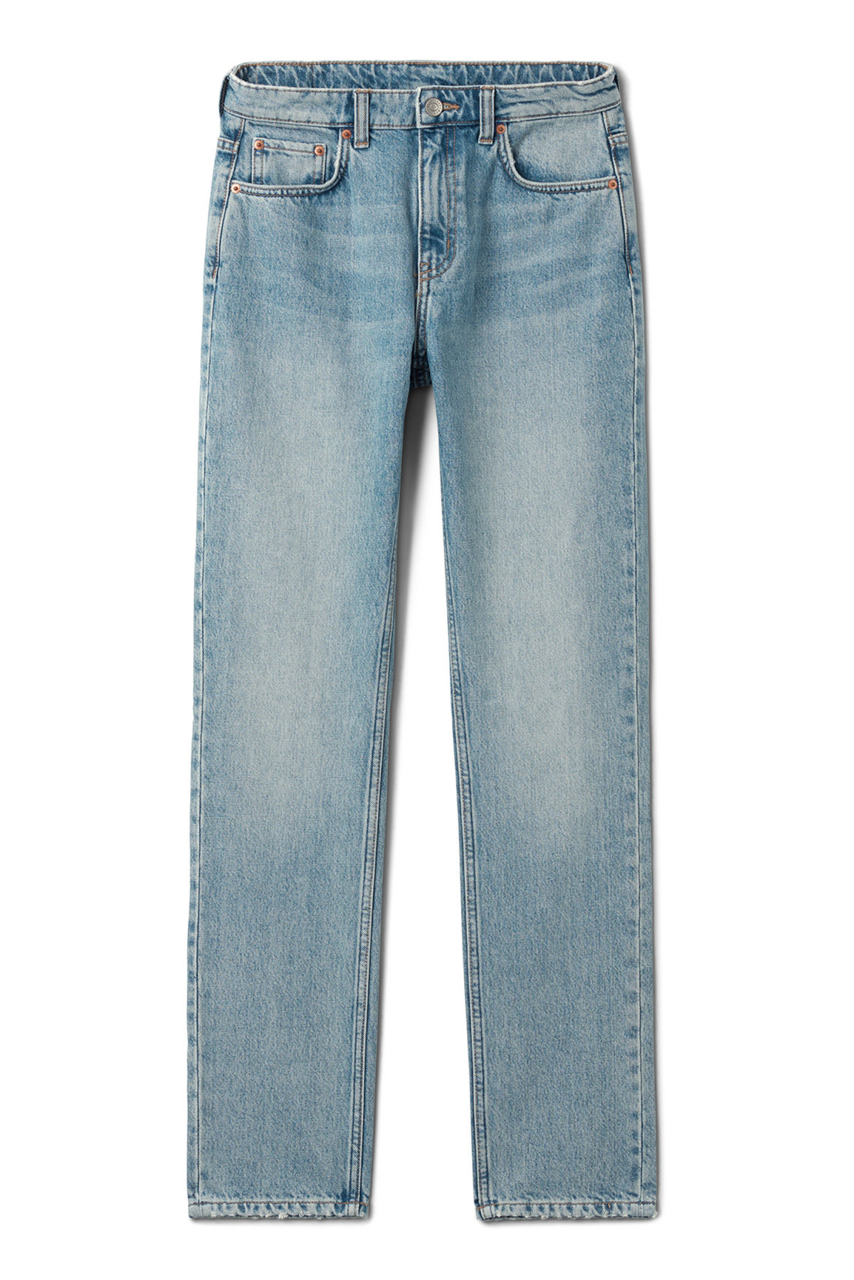 Front image of Weekday seattle week blue jeans in blue