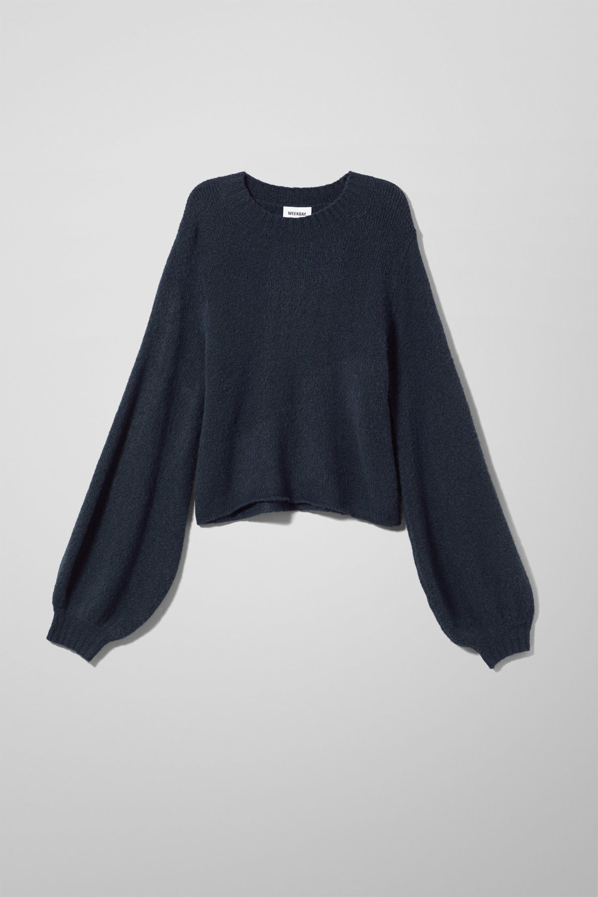 Front image of Weekday letizia sweater in blue