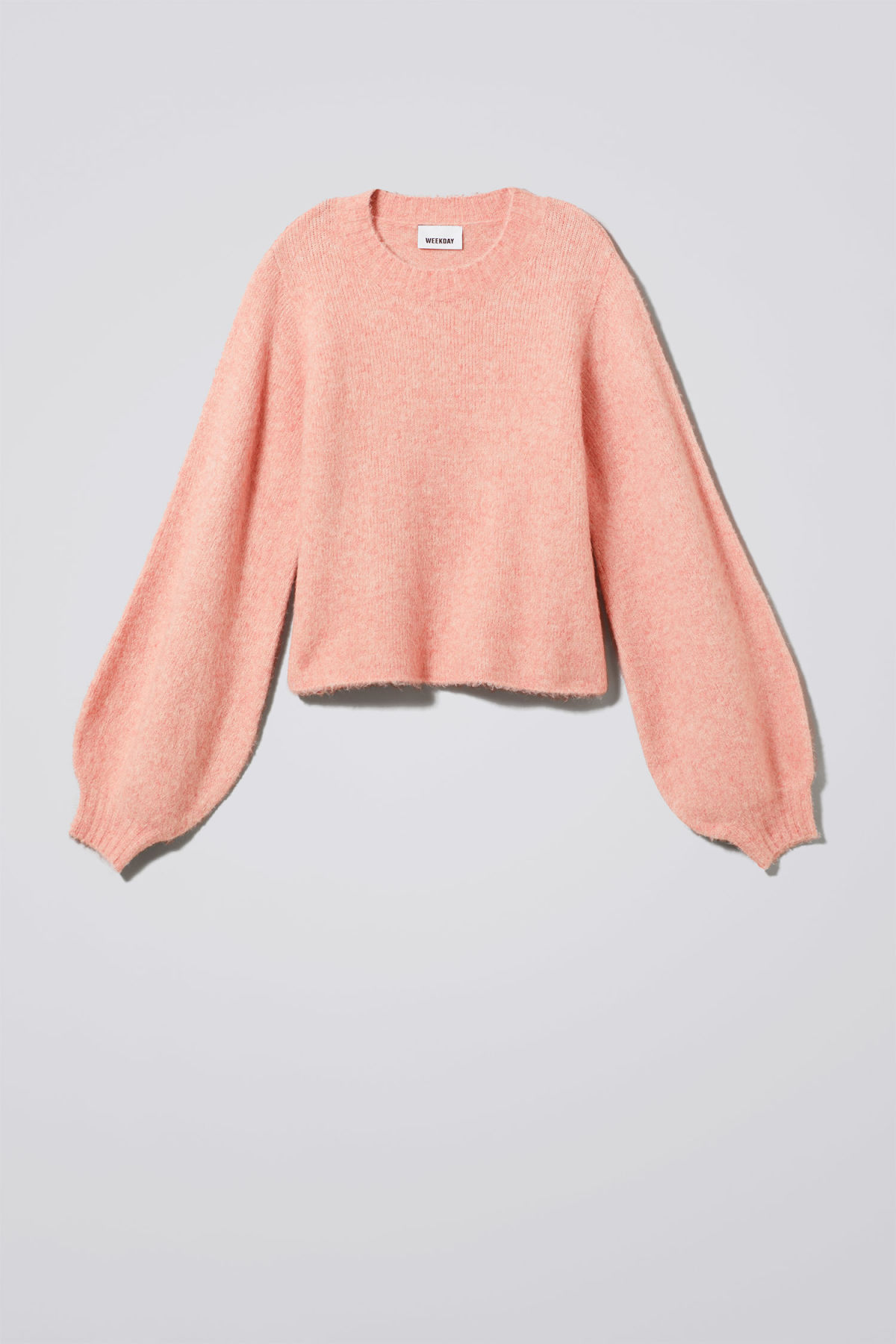 Front image of Weekday letizia sweater in pink