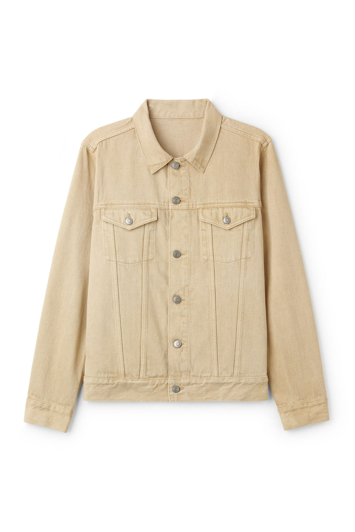 Front image of Weekday single jacket  in beige
