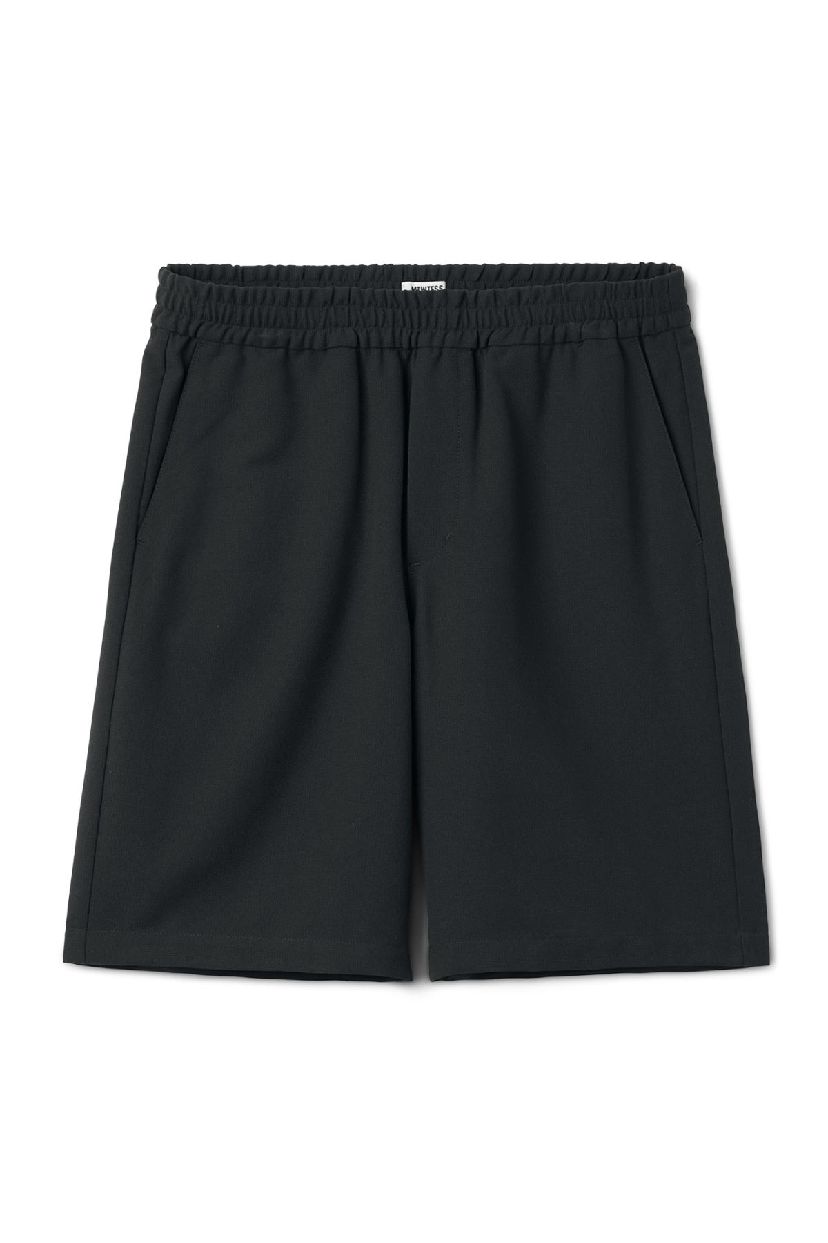 Front image of Weekday wellmann shorts in black