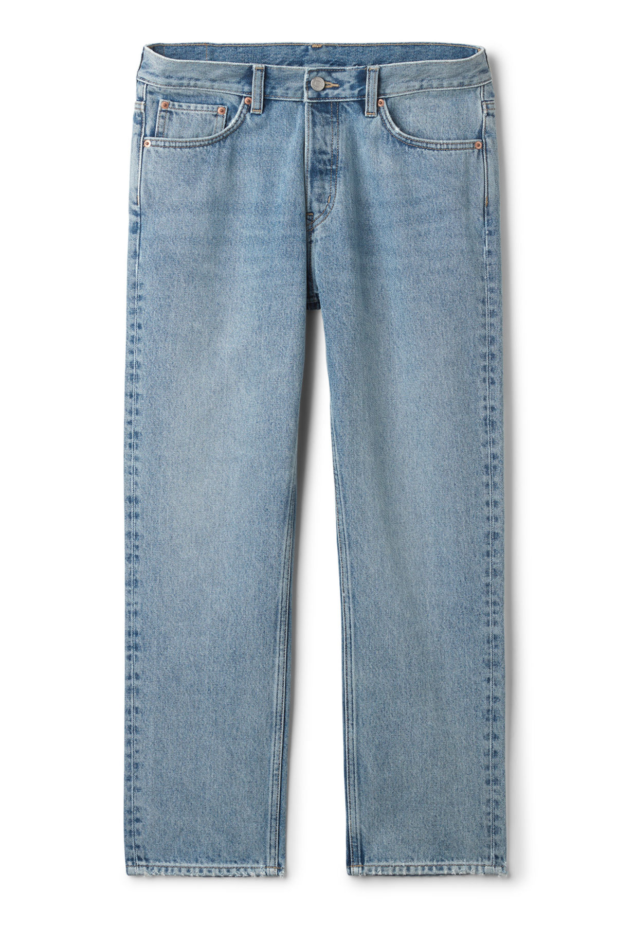 Front image of Weekday vacant wow blue jeans in blue