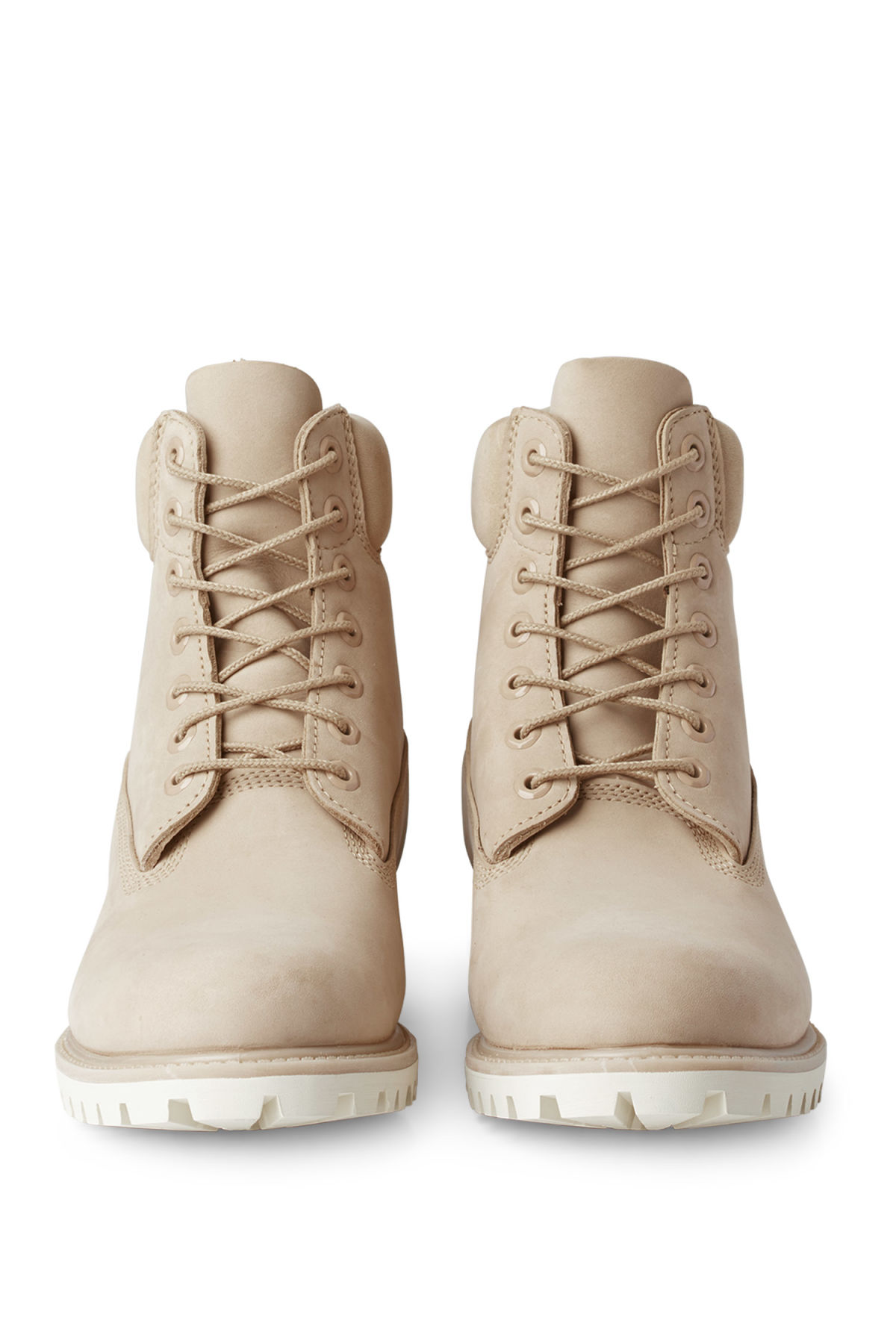 Side image of Weekday timberland premium boot in beige