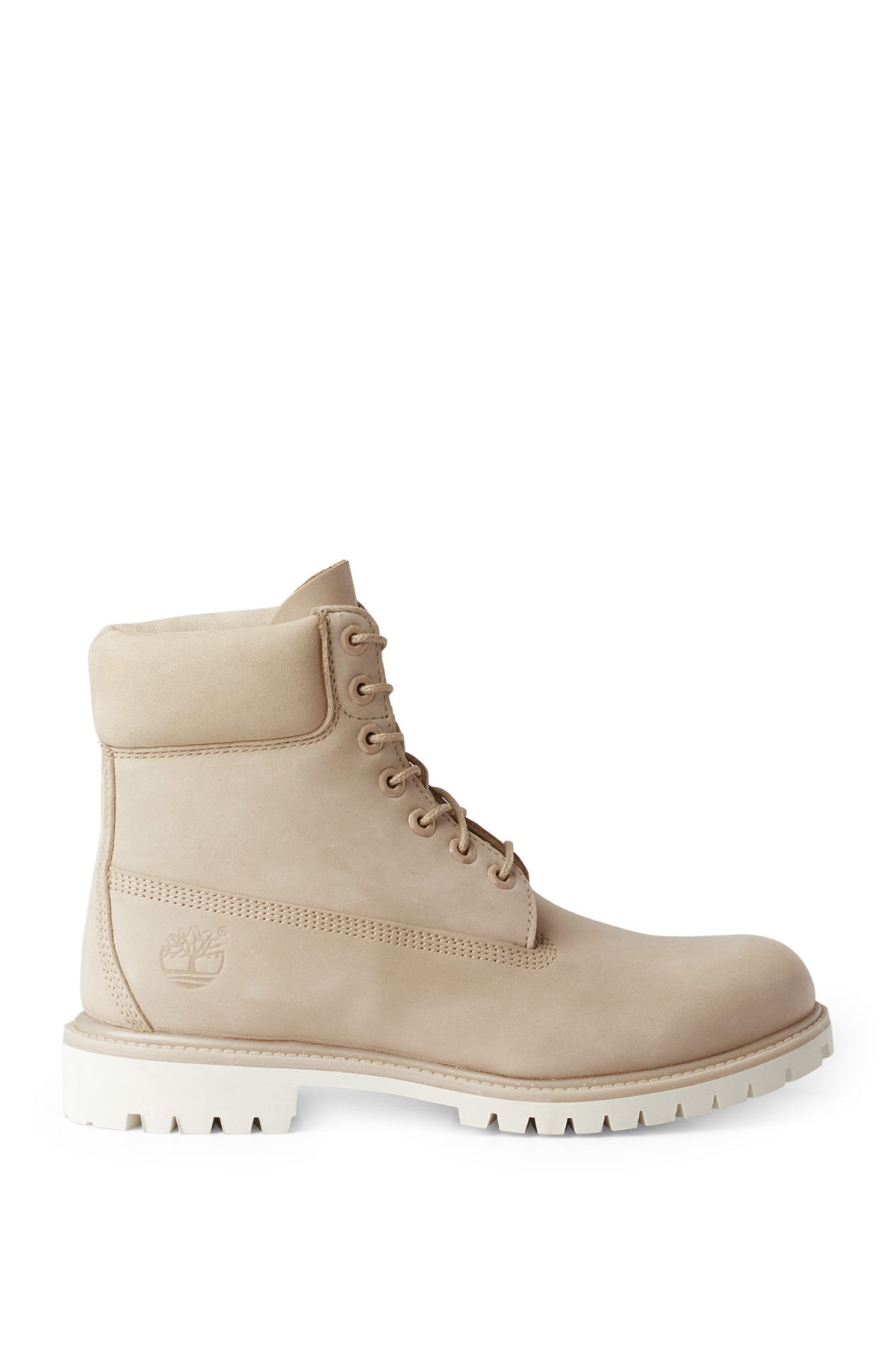 Front image of Weekday timberland premium boot in beige