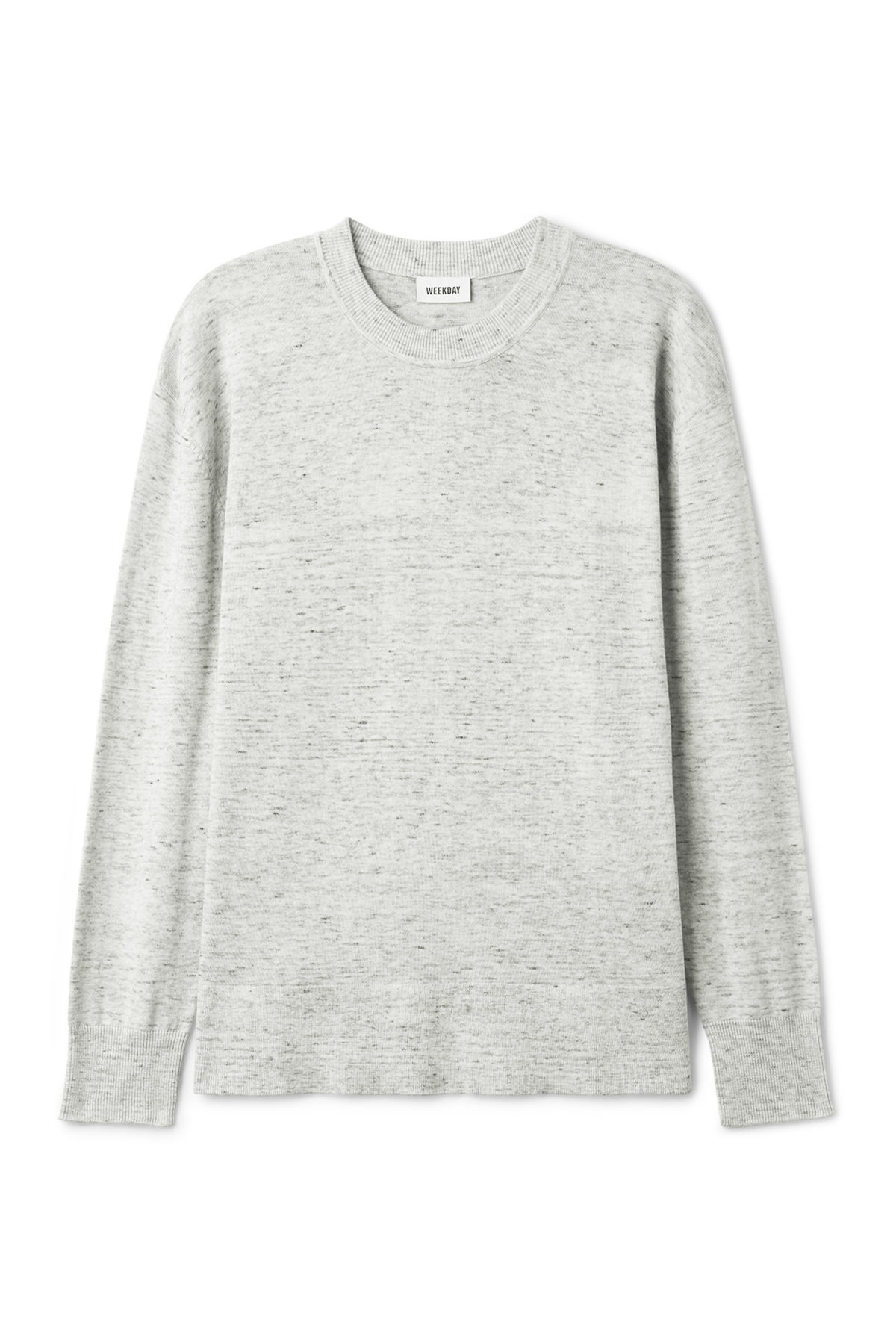 Front image of Weekday earl cotton sweater in grey