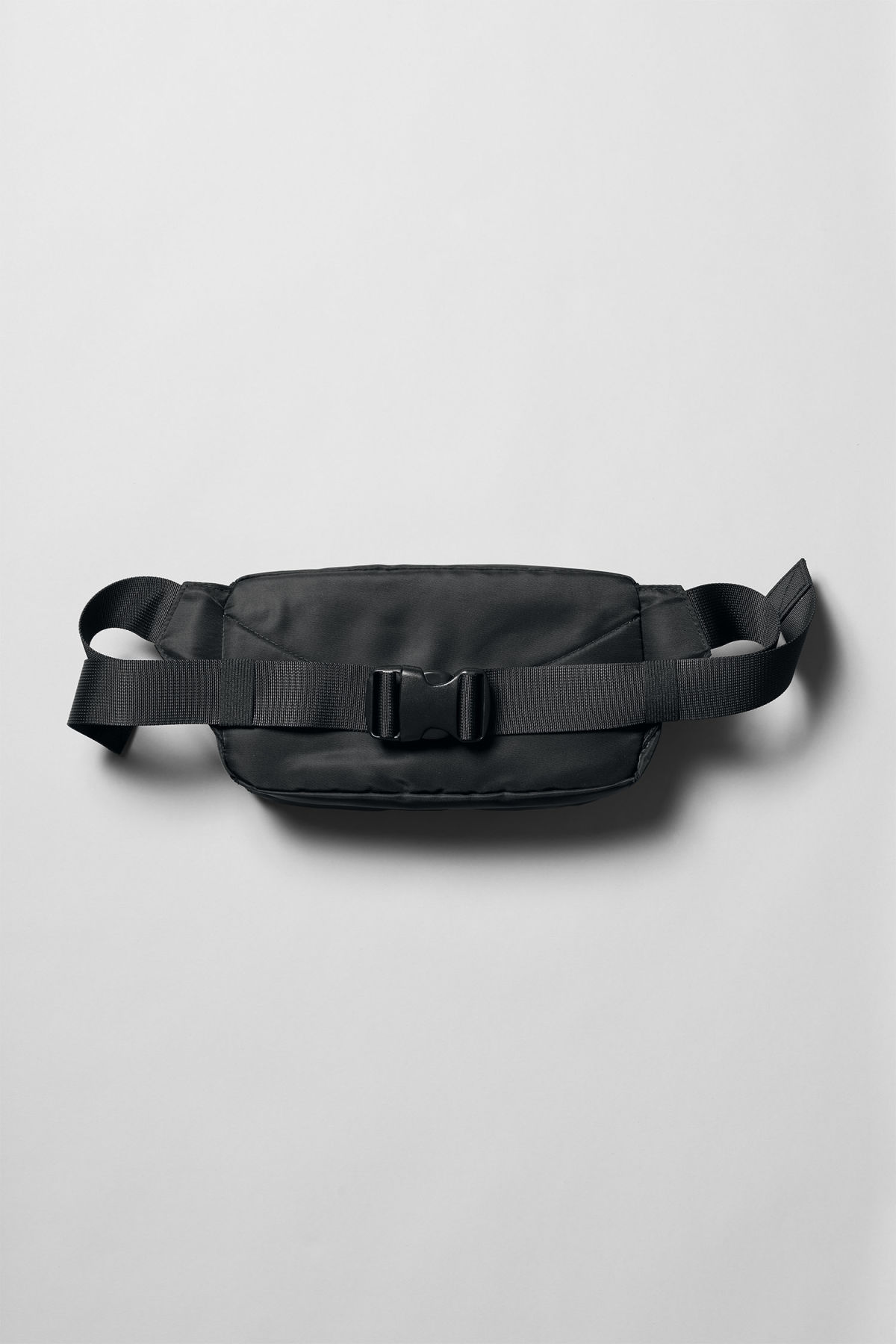 Back image of Weekday wood waist bag in black