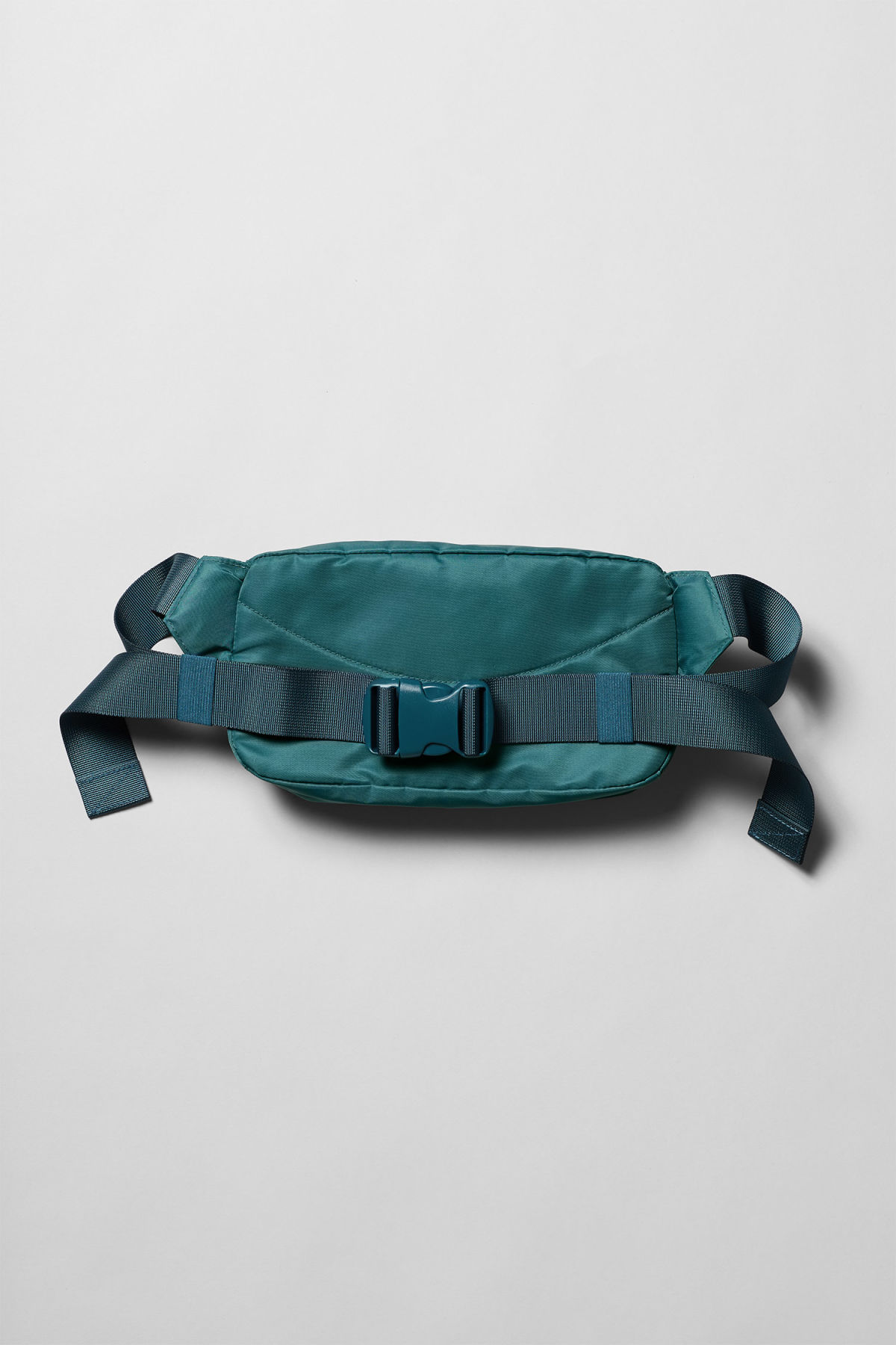 Back image of Weekday wood waist bag in turquoise