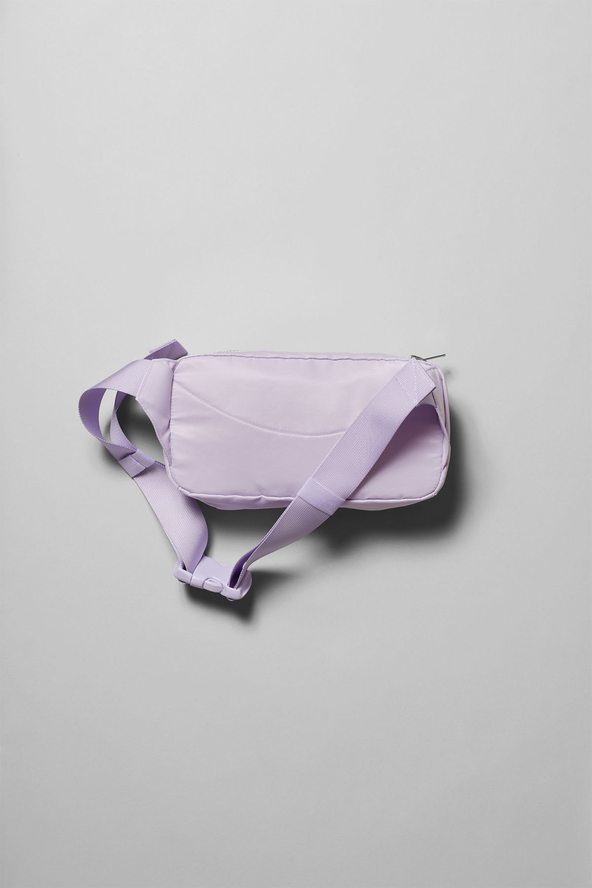Back image of Weekday wood waist bag in purple